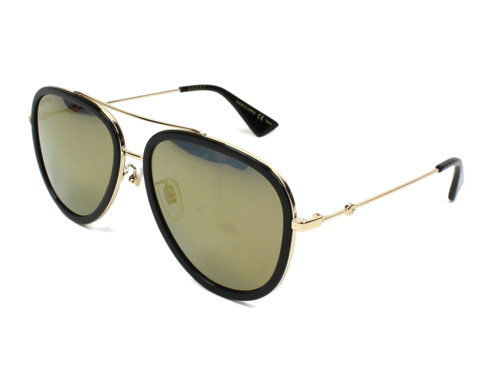 0d45412b270 Sunglasses Gucci GG-0062-S 001 - Black Gold profile view