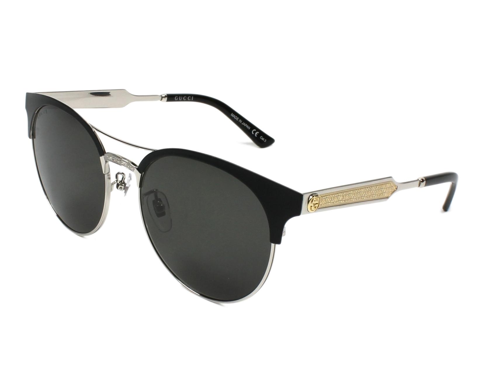8d484e1131e Sunglasses Gucci GG-0075-S 001 - Black Ruthenium profile view