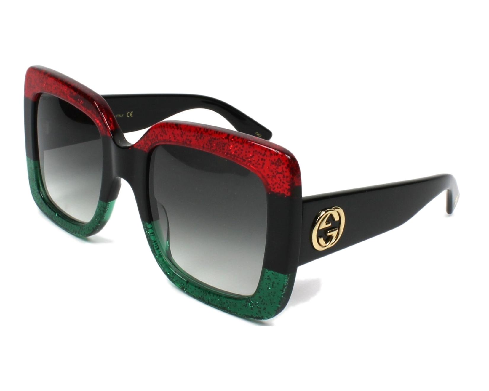afd293ac801 Sunglasses Gucci GG-0083-S 001 55-24 Red Black profile view