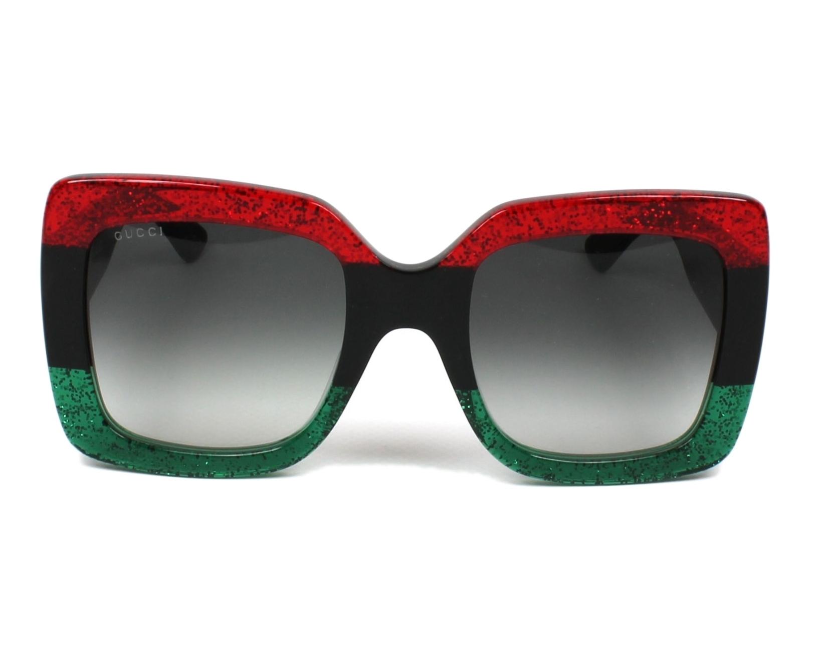 3df2c73674339e Sunglasses Gucci GG-0083-S 001 55-24 Red Black front view