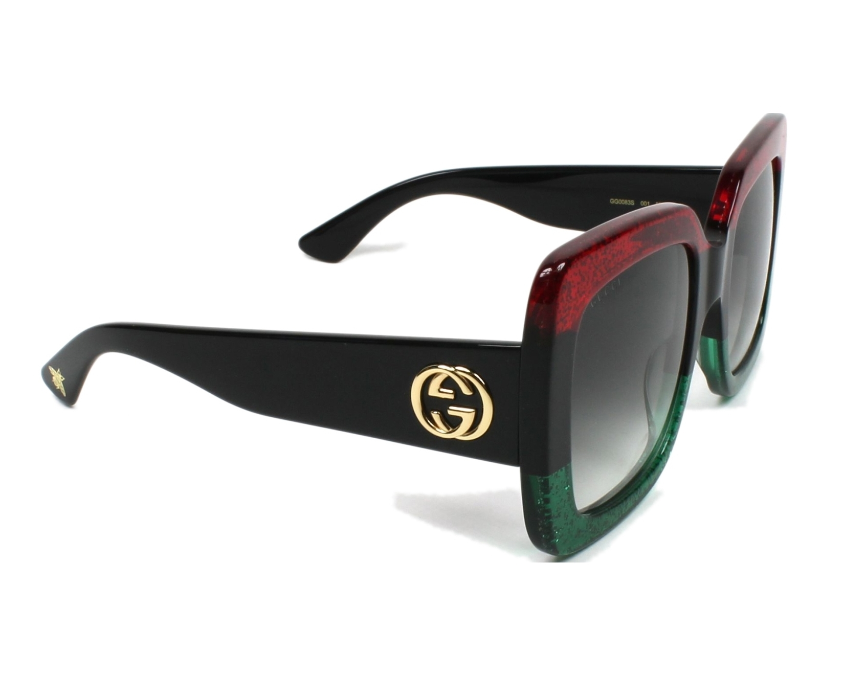 Sunglasses Gucci GG-0083-S 001 55-24 Red Black side view c259c1b7b8a5