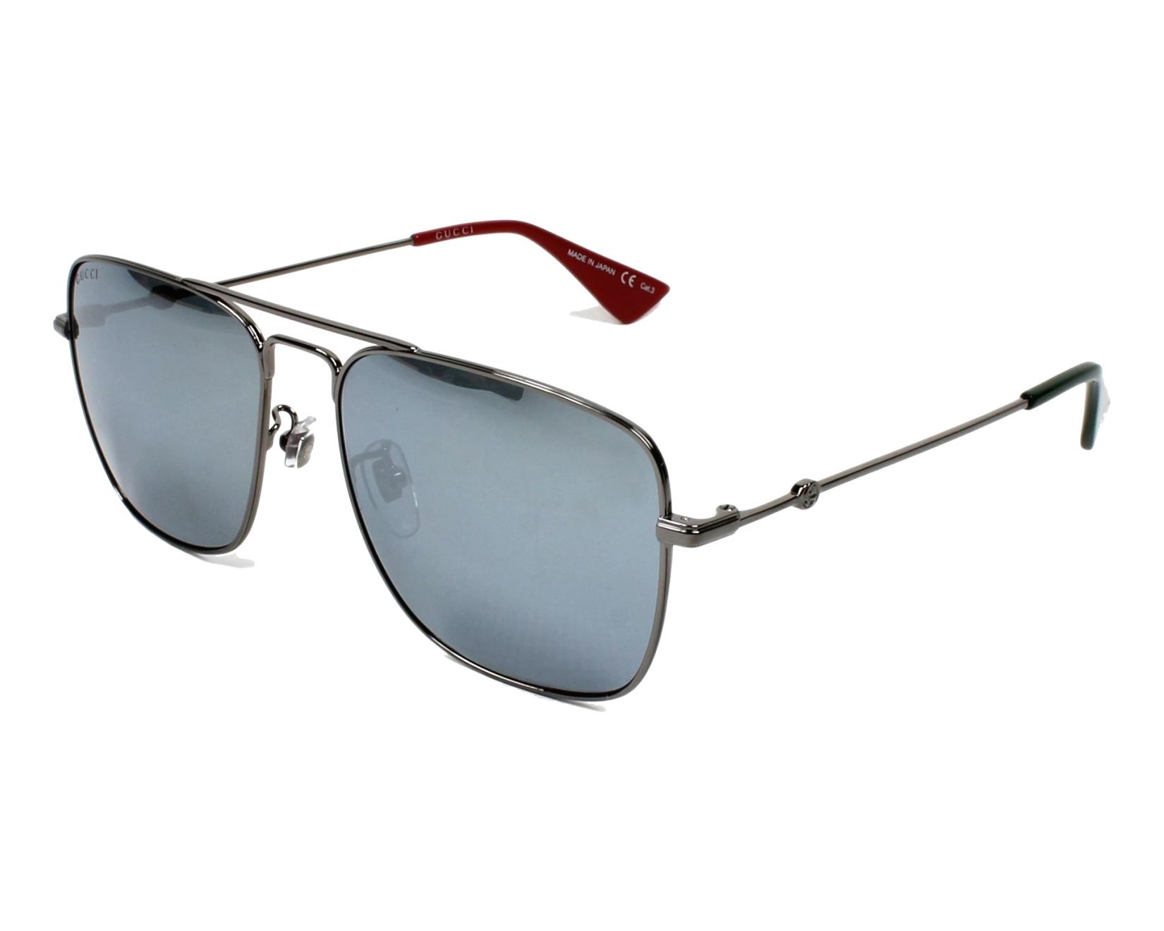 4b0ad3f06a5 Sunglasses Gucci GG-0108-S 005 55-16 Ruthenium profile view
