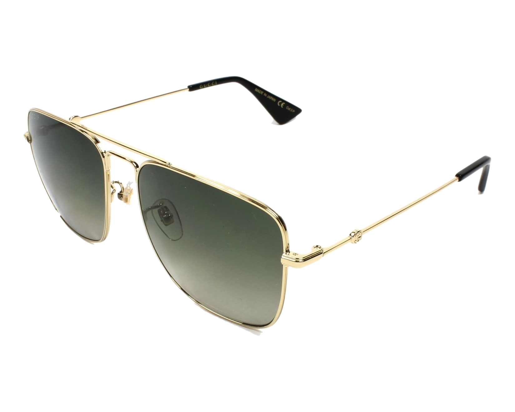 9f3bf792330 Sunglasses Gucci GG-0108-S 006 55-16 Gold profile view