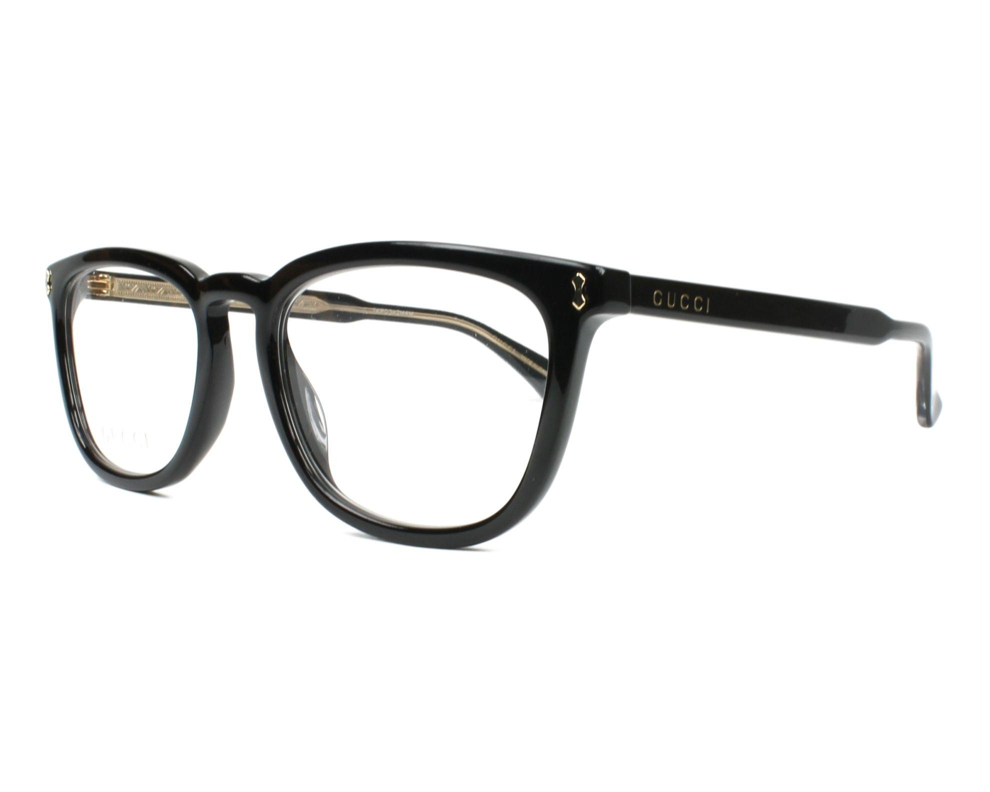 598e3c5b0e eyeglasses Gucci GG-0126-O 006 55-20 Black Crystal profile view