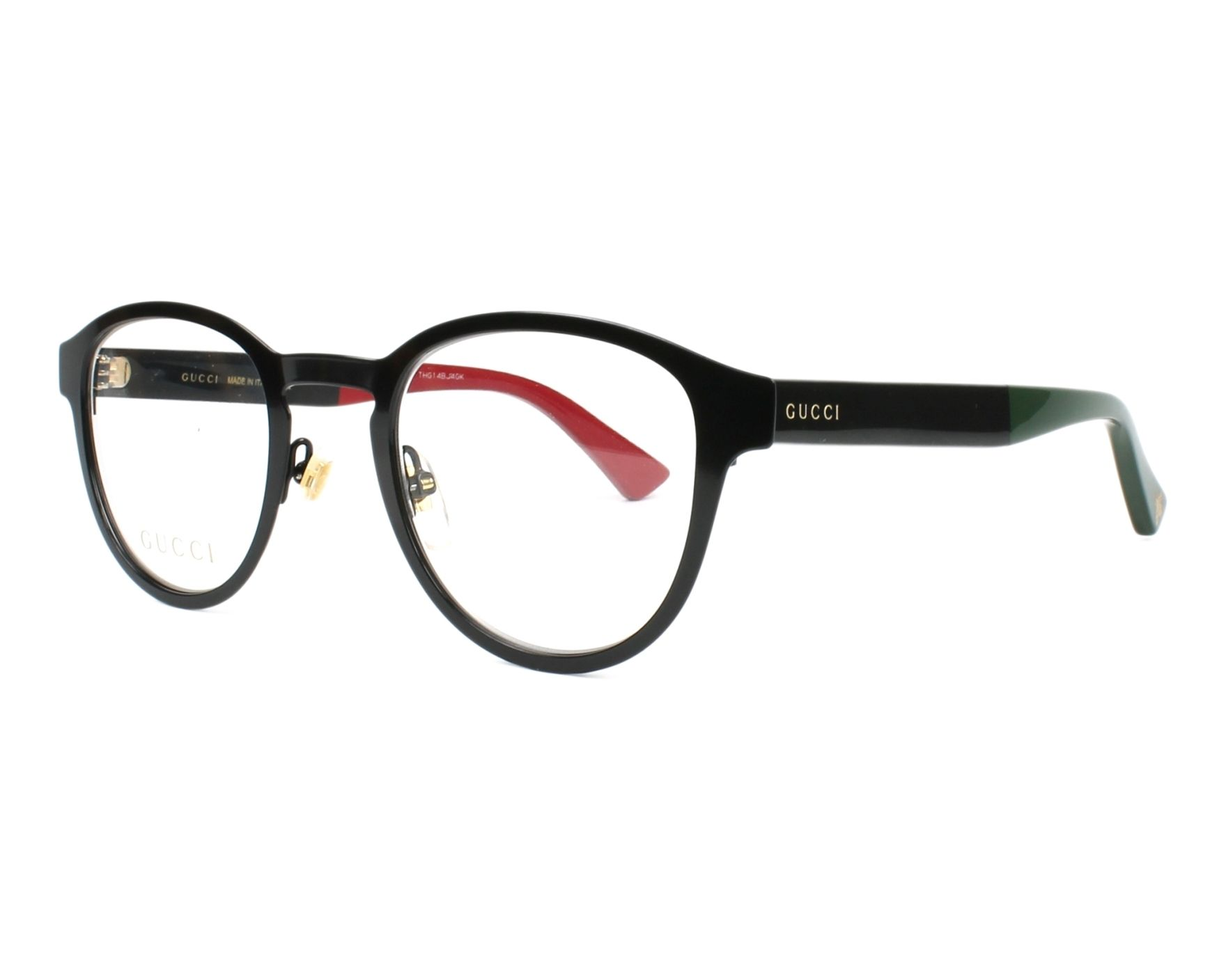 a3ebcd91491 eyeglasses Gucci GG-0161-O 002 48-23 Black Red profile view