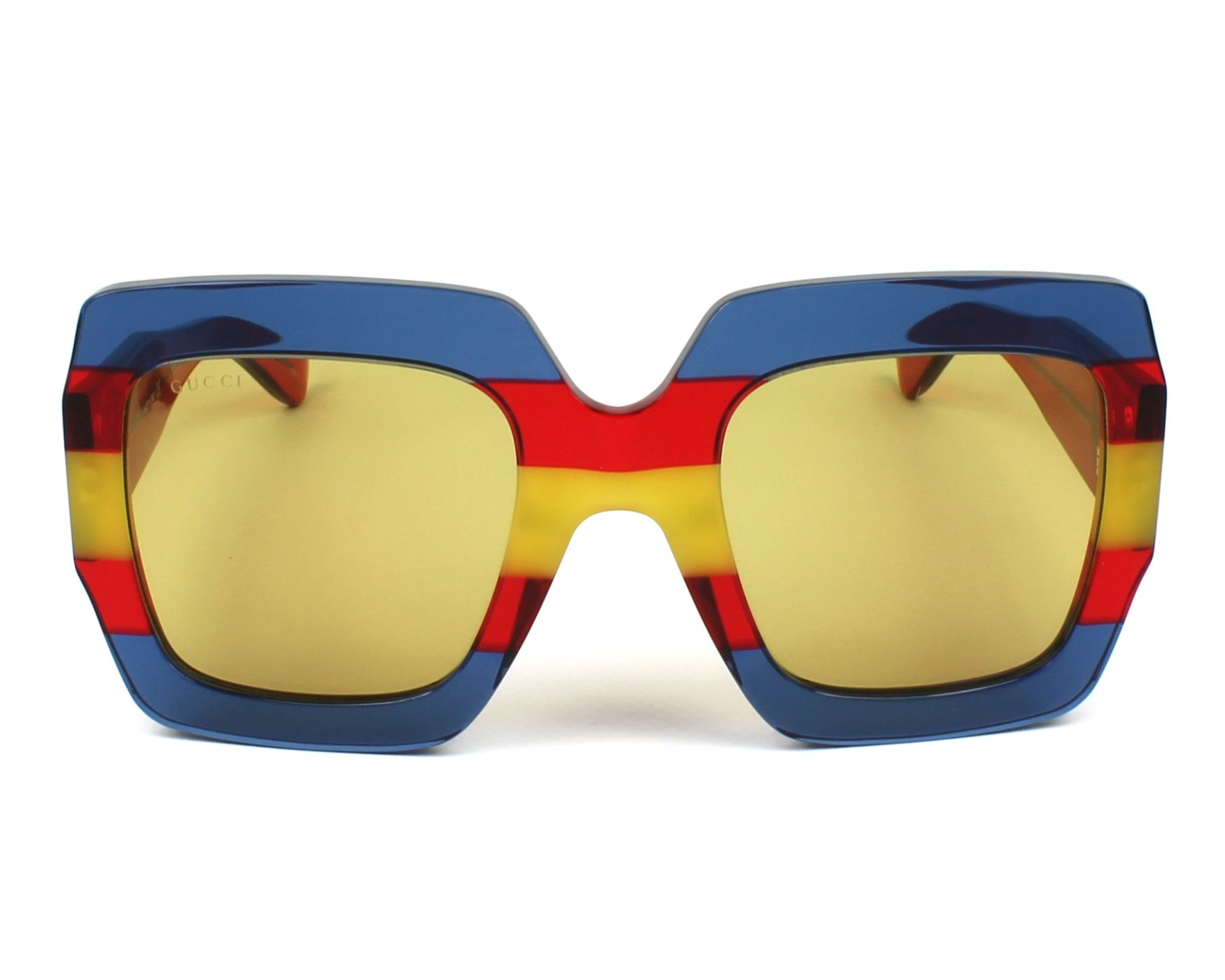 25b09bf5aea Sunglasses Gucci GG-0178-S 002 54-25 Blue Red front view