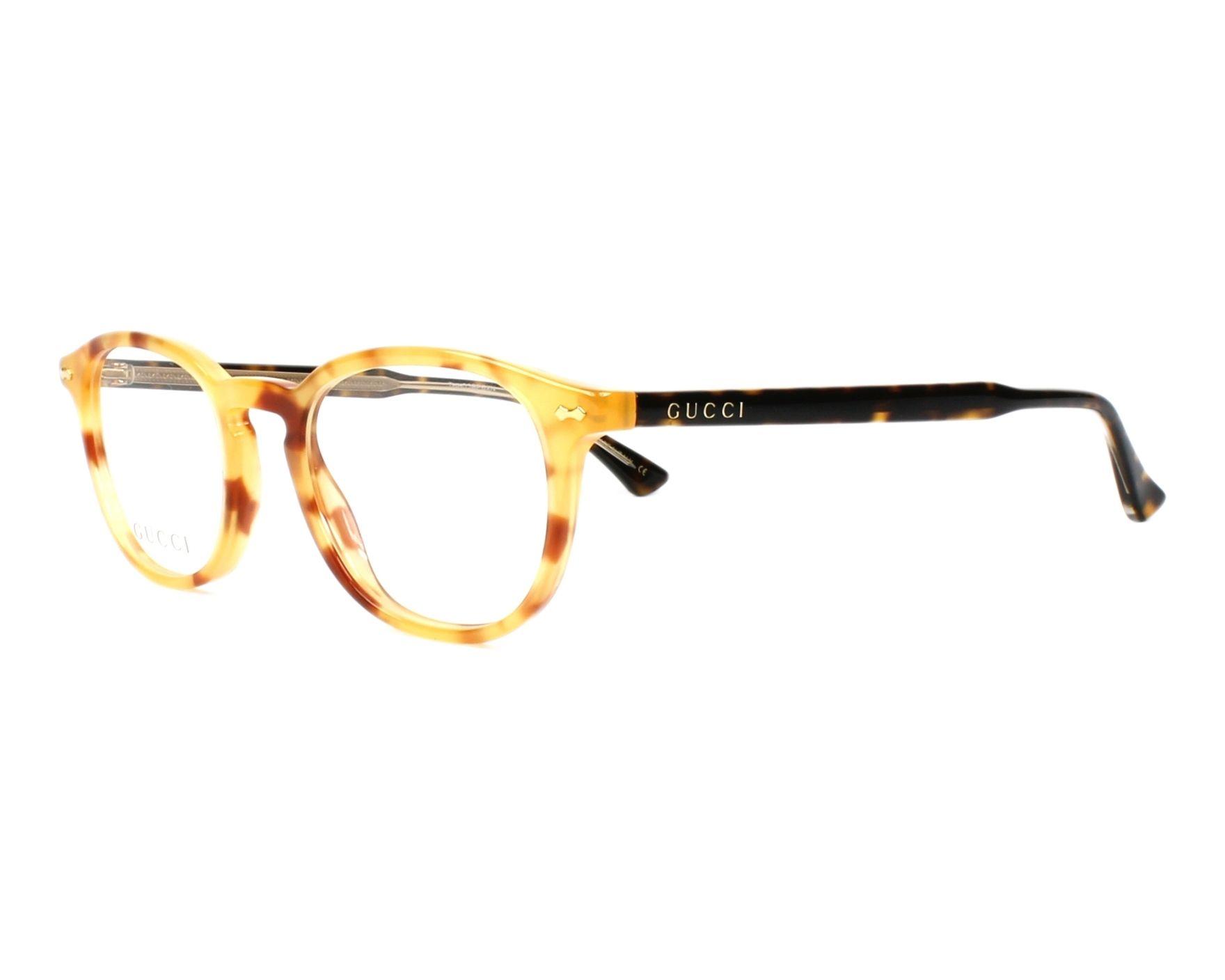 93300ba0352 eyeglasses Gucci GG-0187-O 003 47-20 Brown Havana profile view
