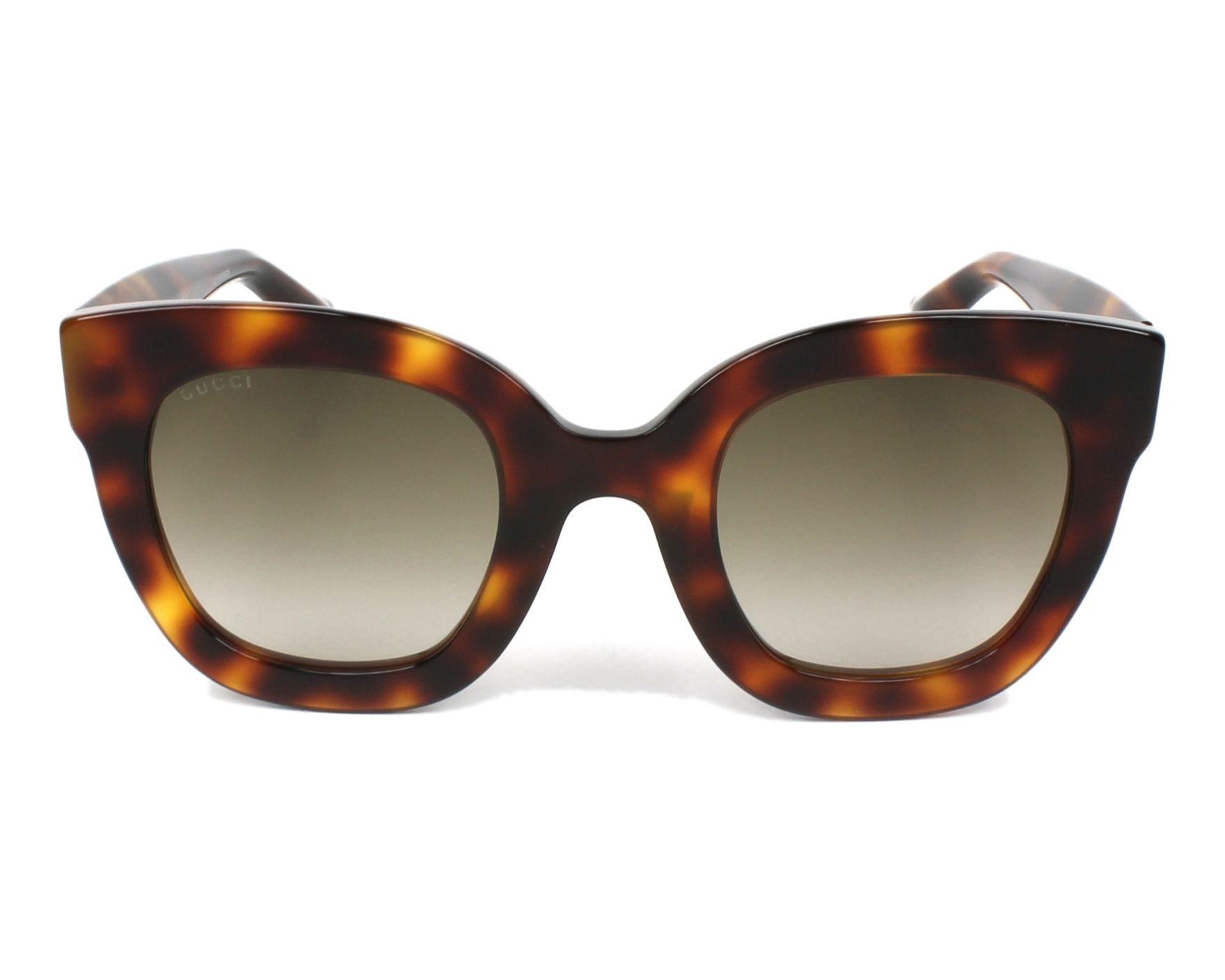 d8bacffa9f0 Sunglasses Gucci GG-0208-S 003 49-25 Havana front view