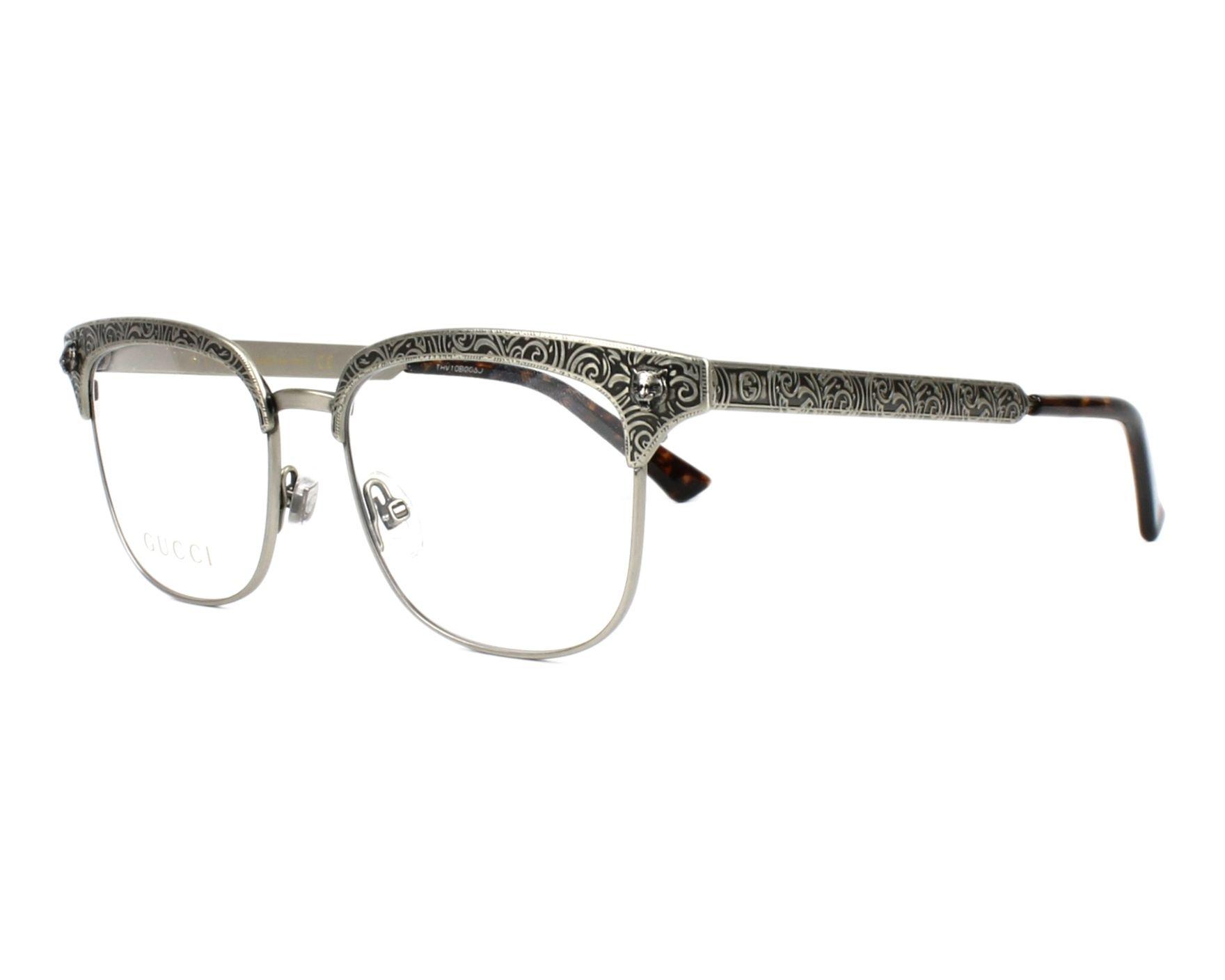 45cc5efa7db eyeglasses Gucci GG-0221-O 002 49-16 Silver Silver profile view