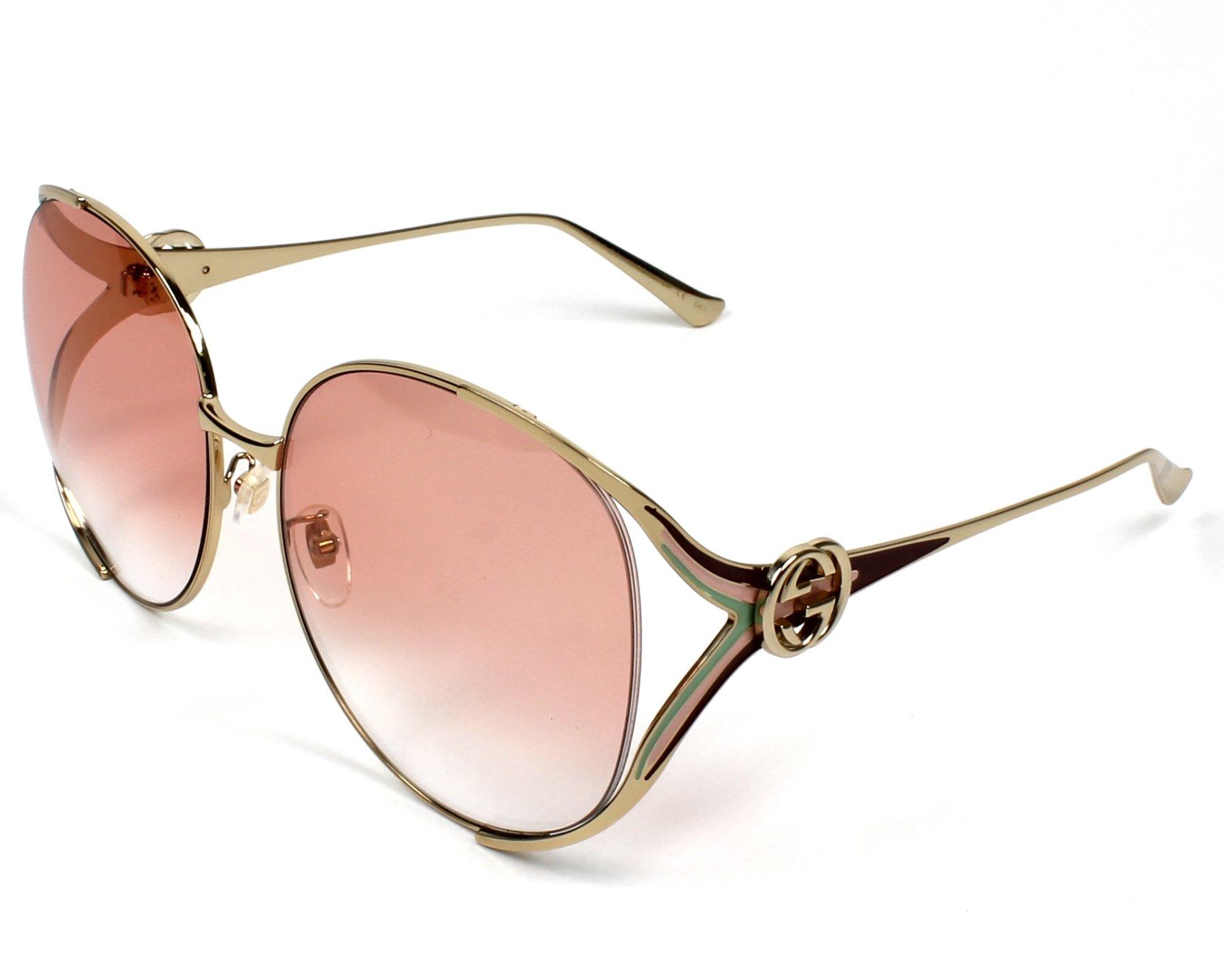 d746f34b95 Sunglasses Gucci GG-0225-S 005 - Gold Bordeaux profile view