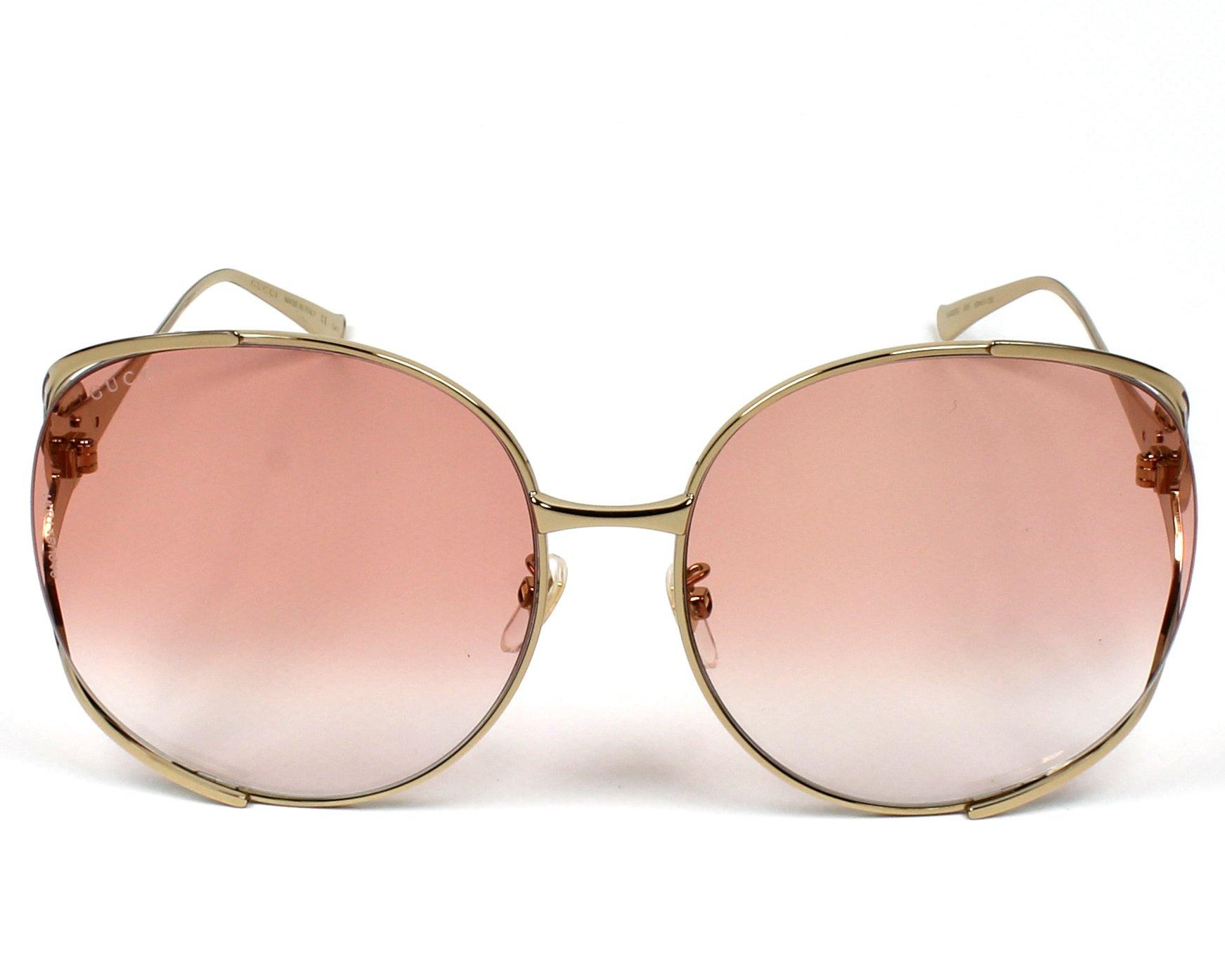 22ab9d2a22 Sunglasses Gucci GG-0225-S 005 - Gold Bordeaux front view