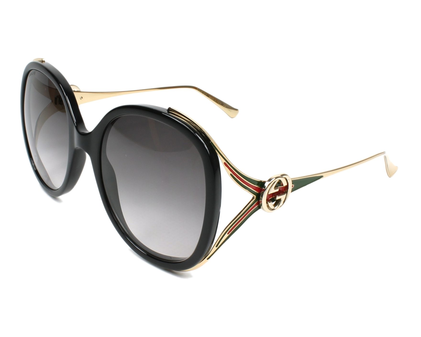 cd0aaf60760 Sunglasses Gucci GG-0226-S 001 56-22 Black Gold profile view