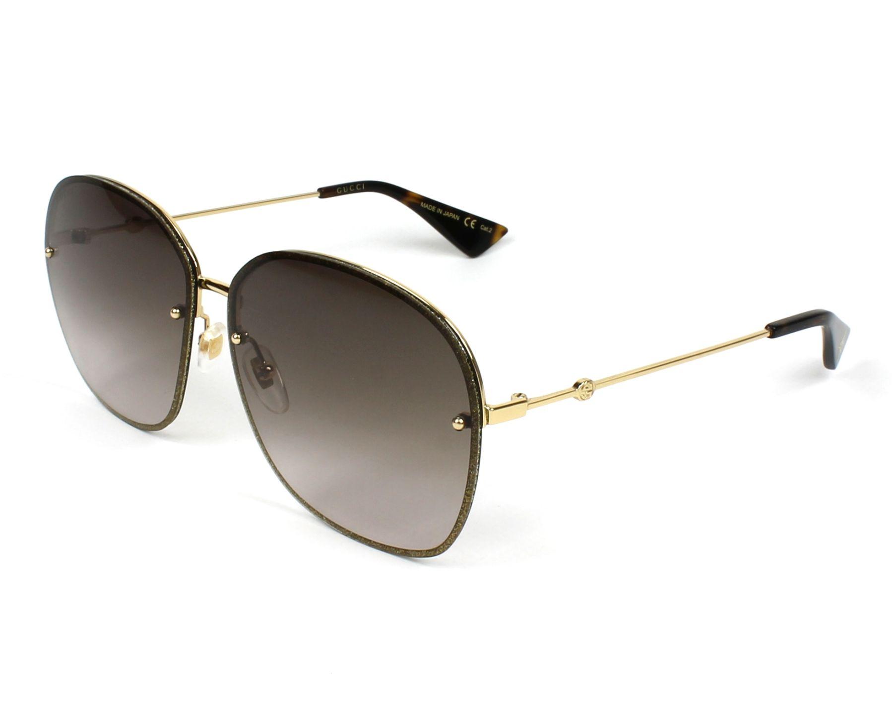 5b69f2d72e890 Sunglasses Gucci GG-0228-S 003 - Gold Gold profile view