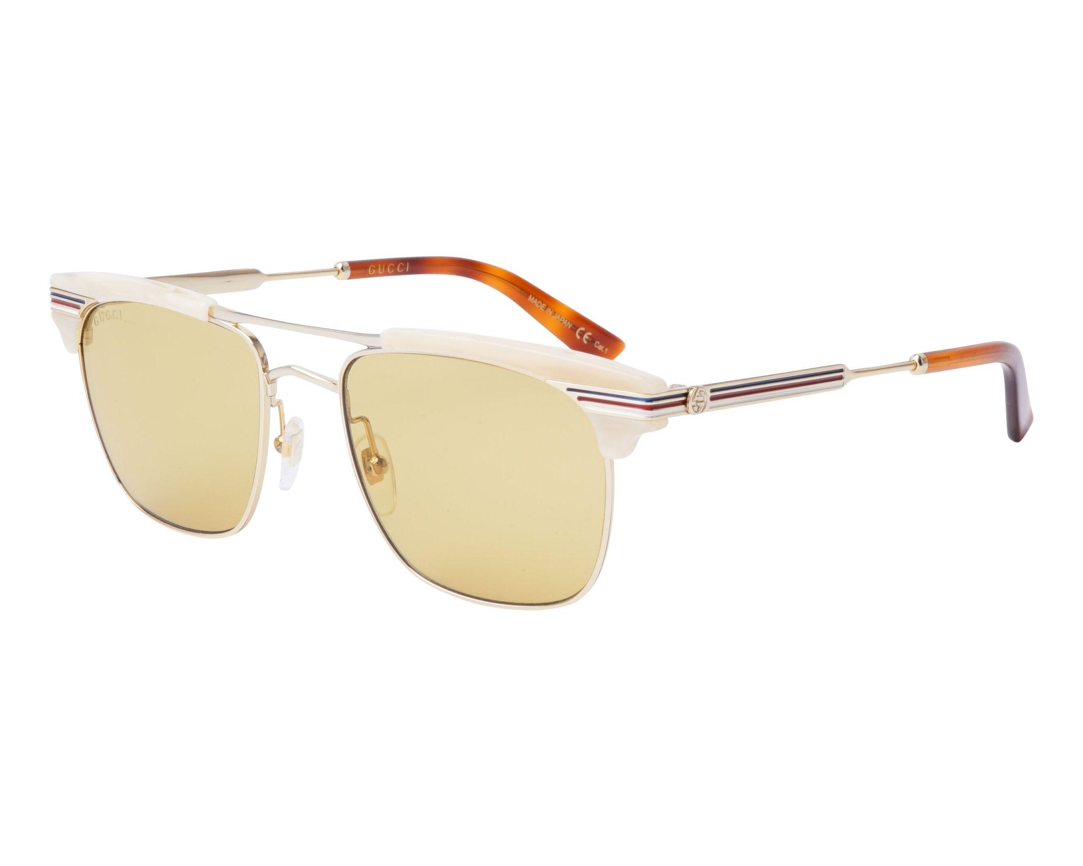dba4879669a Sunglasses Gucci GG-0287-S 005 52-18 Gold Beige profile view