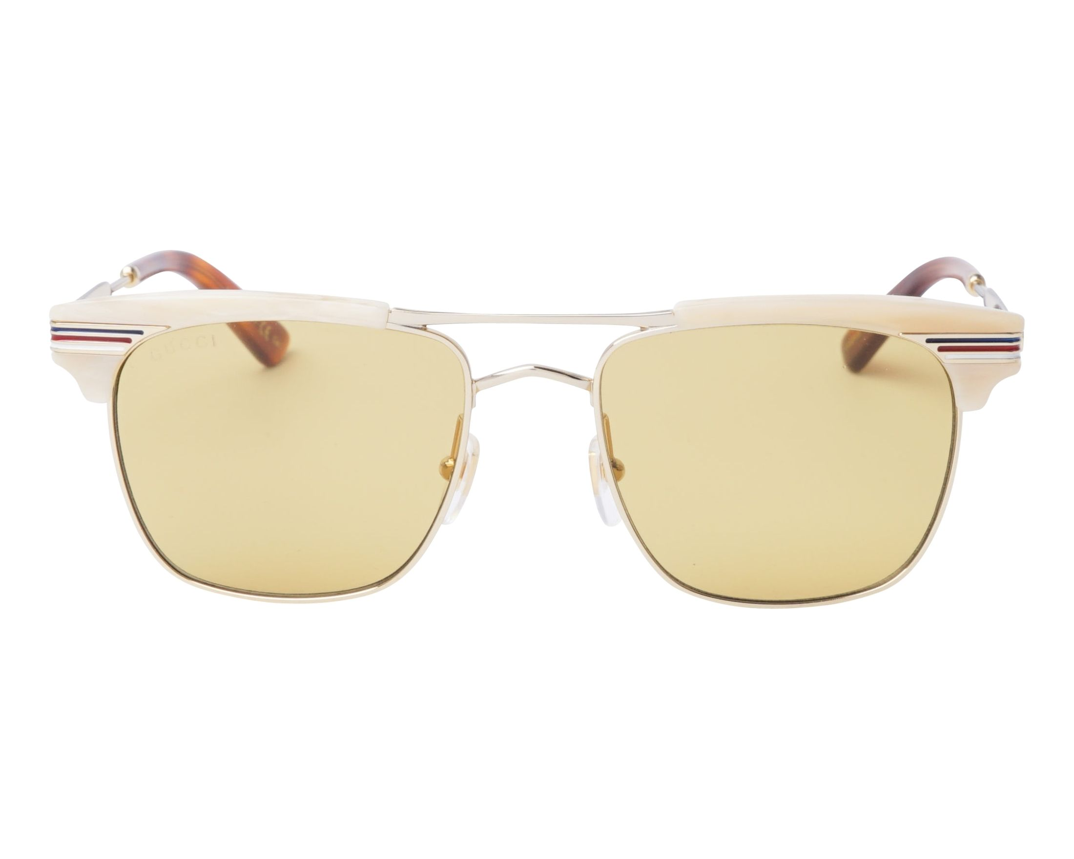 b2ffd26bfb8 Sunglasses Gucci GG-0287-S 005 52-18 Gold Beige front view