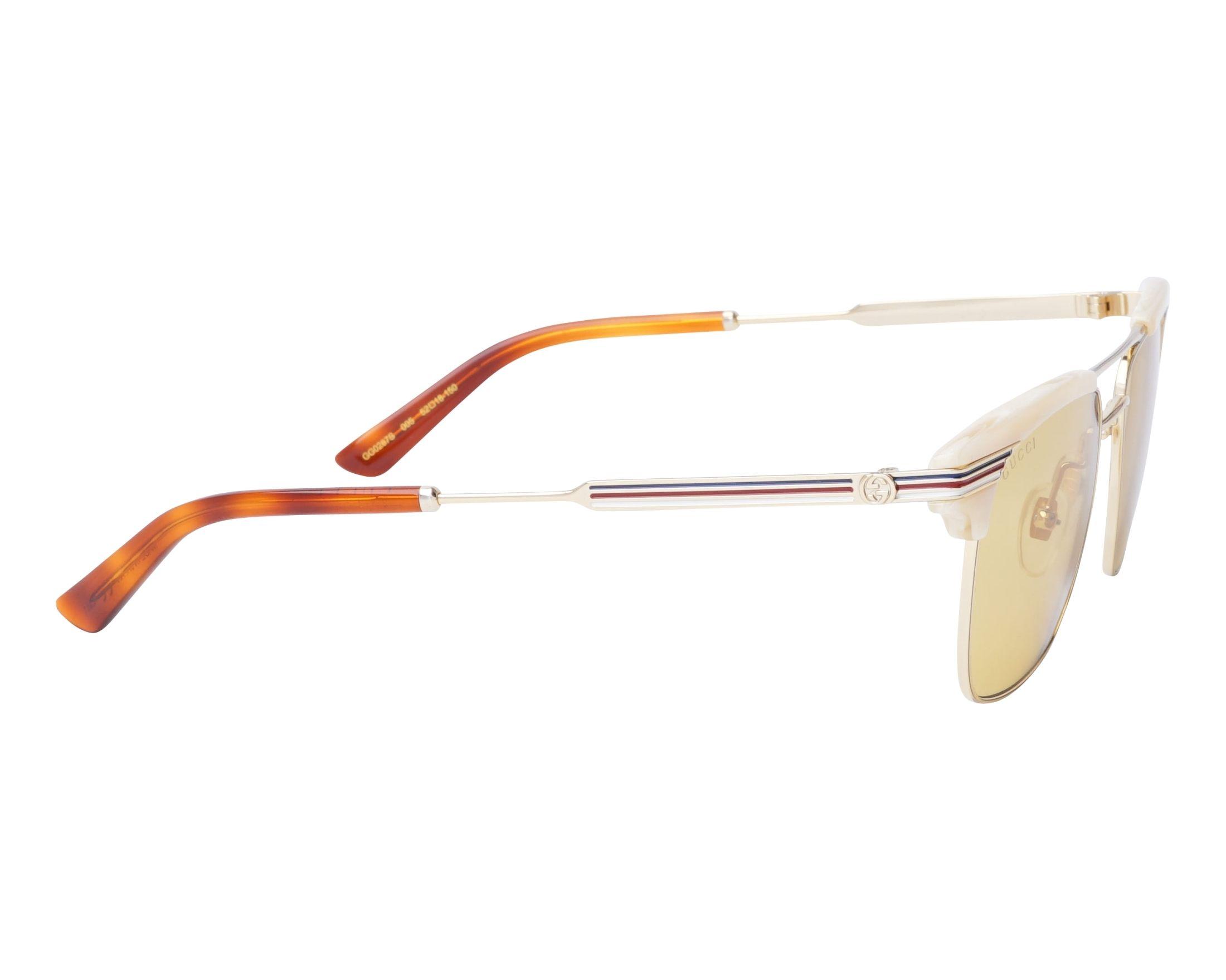 a3e5a543396 Sunglasses Gucci GG-0287-S 005 52-18 Gold Beige side view