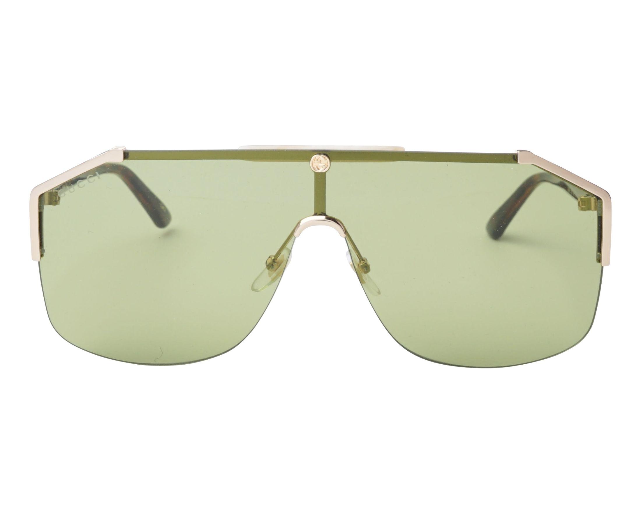 2c40833ae48 Sunglasses Gucci GG-0291-S 004 99-1 Gold Havana front view