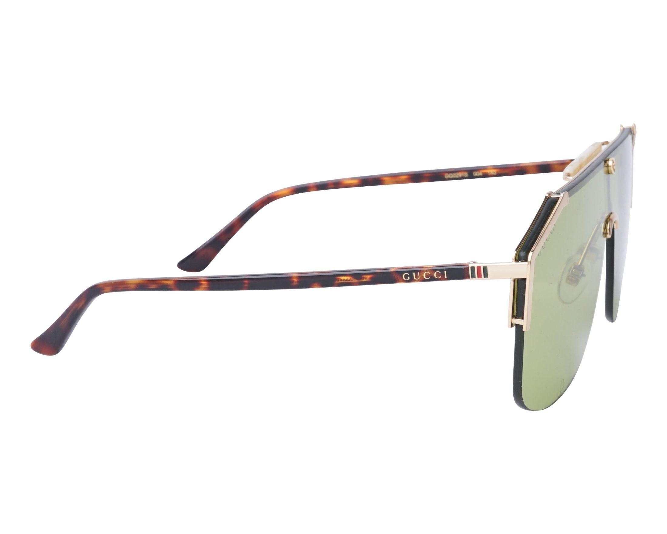 54f817cd433 Sunglasses Gucci GG-0291-S 004 99-1 Gold Havana side view