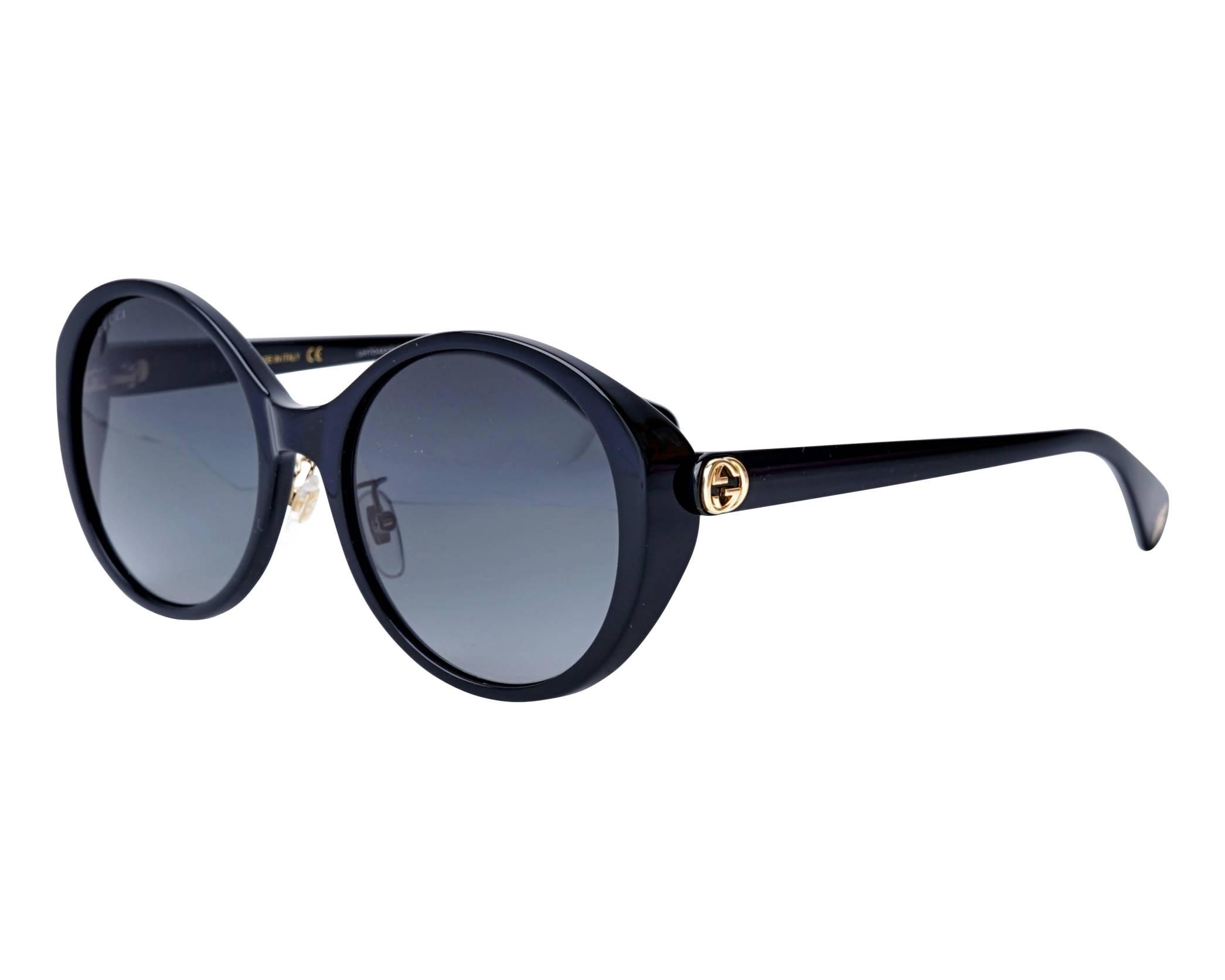 8c4100cf06e Sunglasses Gucci GG-0370-SK 001 56-19 Black profile view