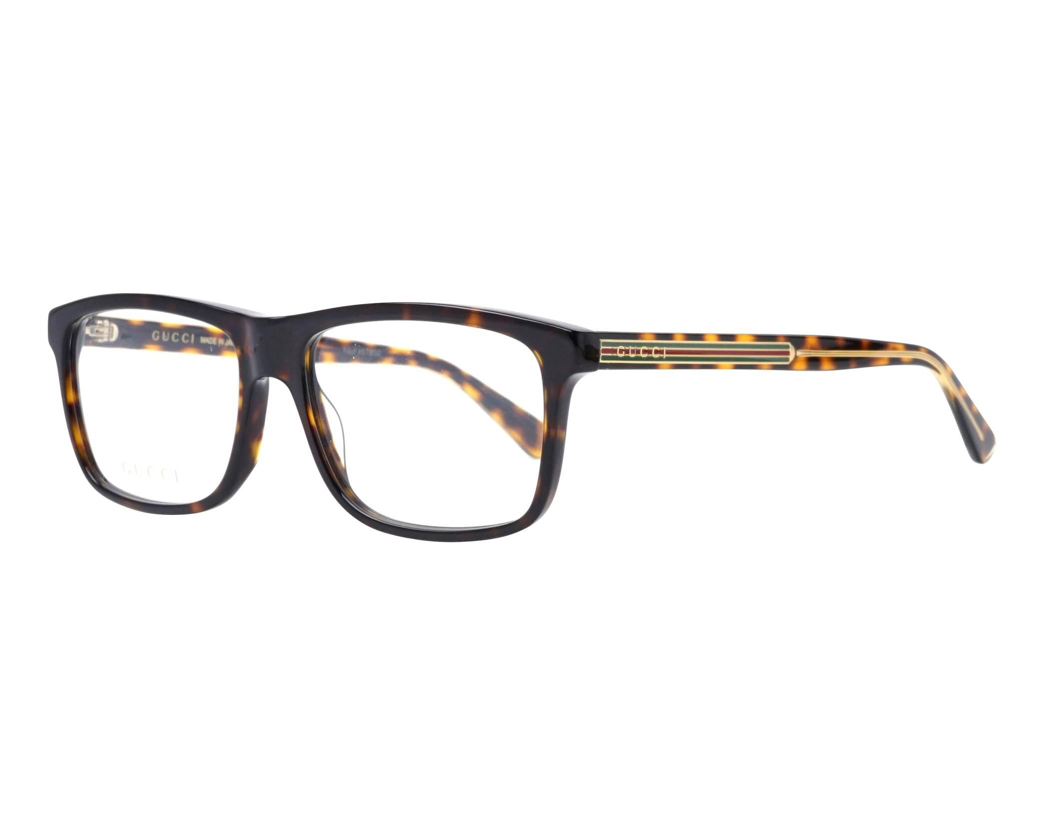 a42e2ad5f51 eyeglasses Gucci GG-0384-O 005 57-16 Havana Gold profile view