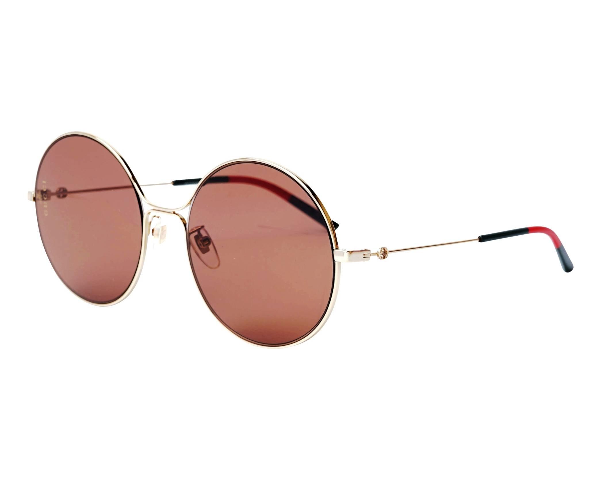 9f7b1bc3c3f Sunglasses Gucci GG-0395-S 002 58-20 Gold profile view