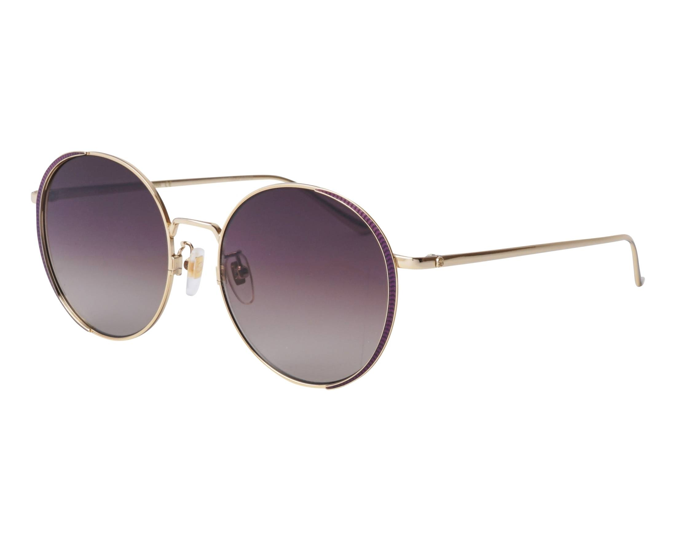 f9ebc4aa464 Sunglasses Gucci GG-0401-SK 001 56-18 Gold Plum profile view