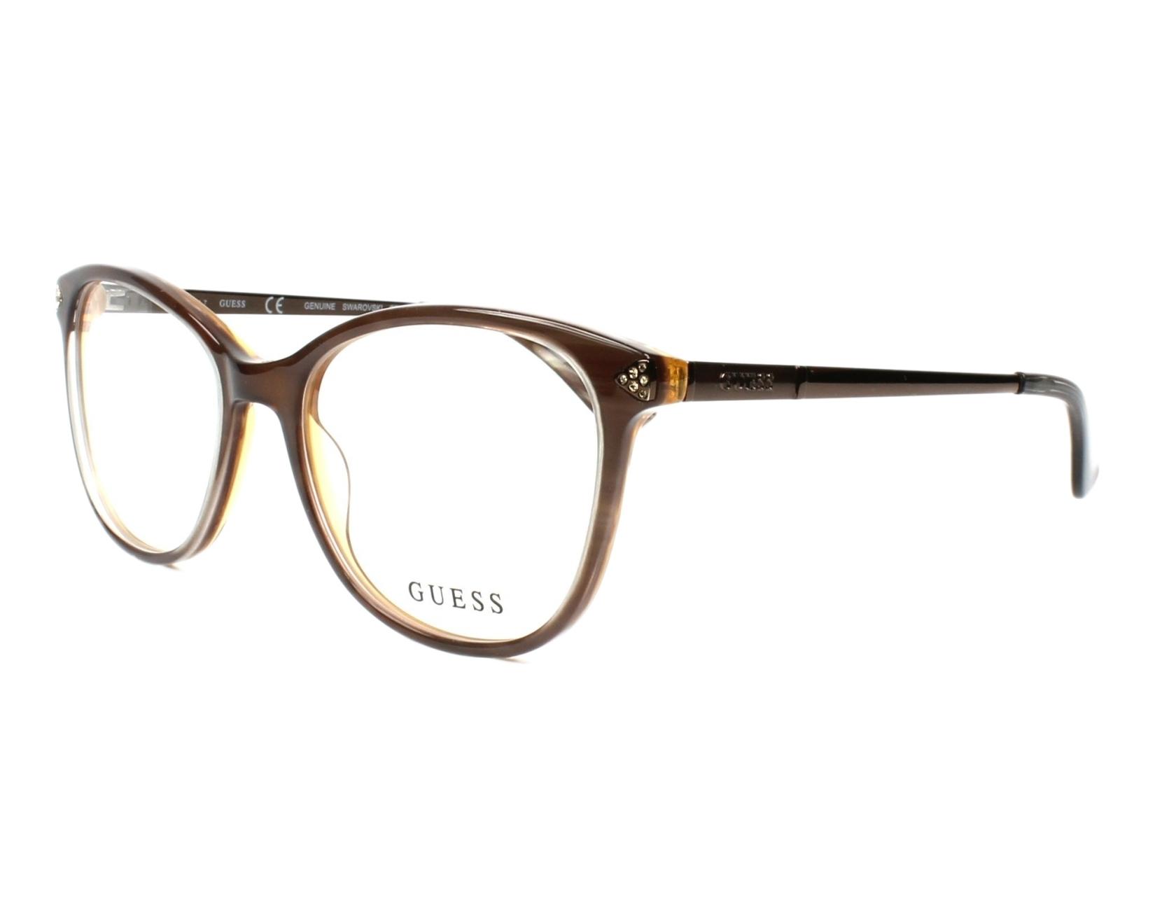a0146146b52 eyeglasses Guess GU-2632-S 045 52-17 Brown Brown profile view