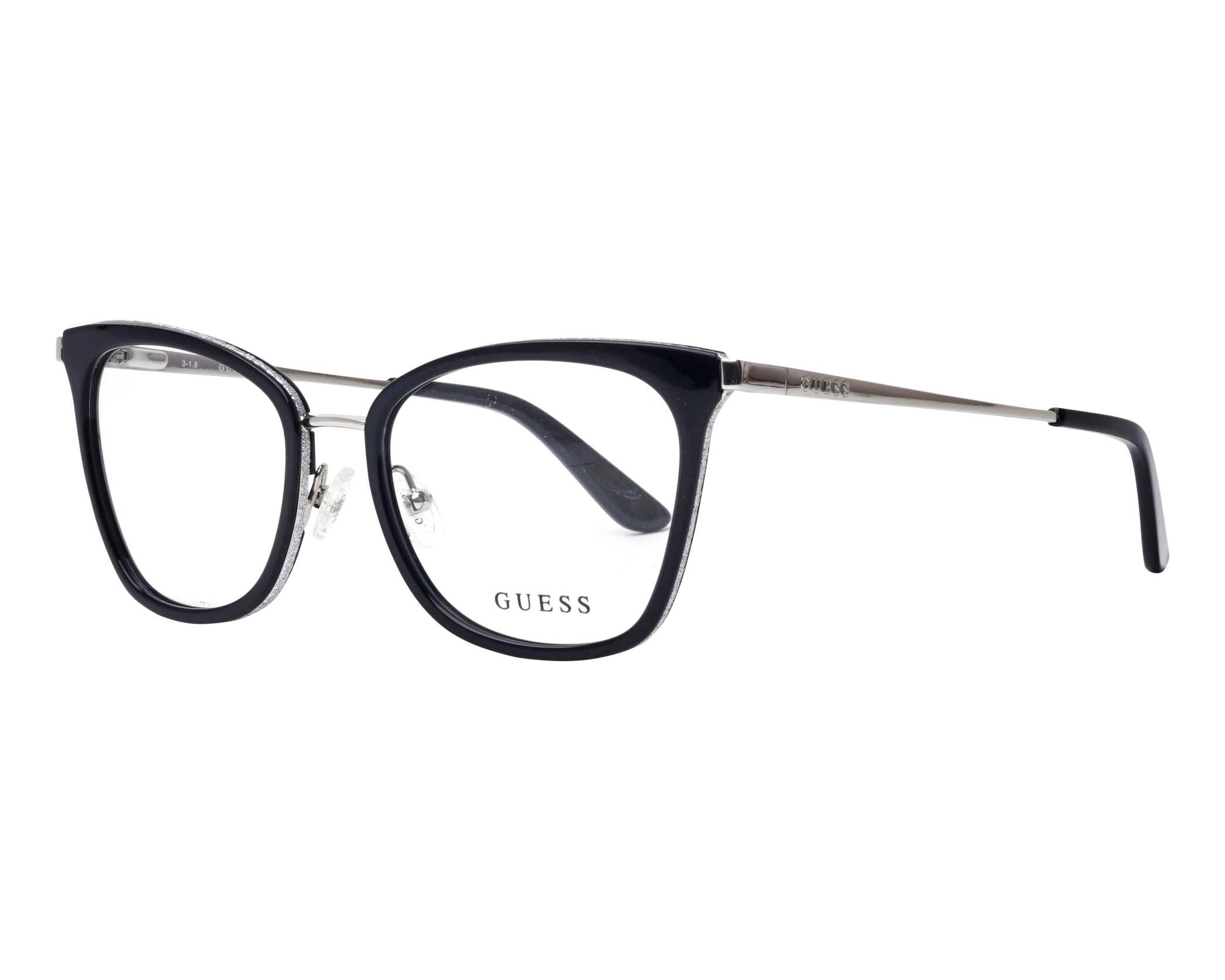 20d7d40f8554d eyeglasses Guess GU-2706-V 001 52-17 Black Silver profile view