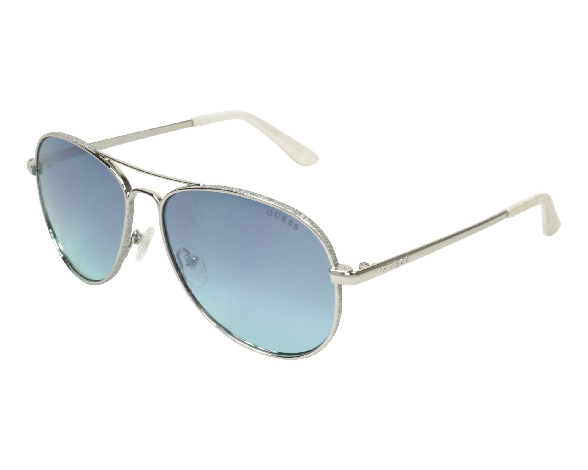 61a2ae7eed4 Sunglasses Guess GU-7555-S 10X 59-14 Silver Silver profile view