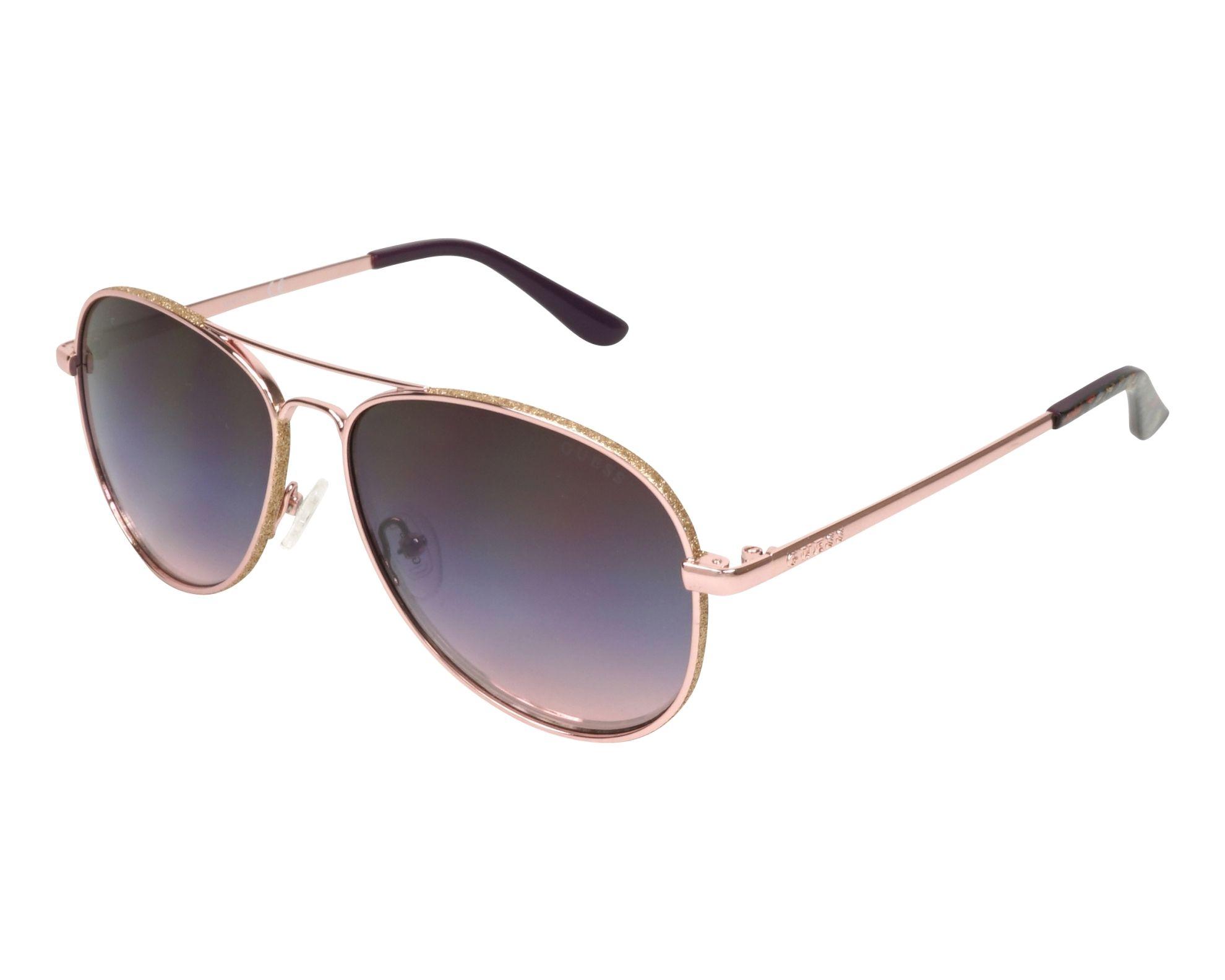032e1387140 Sunglasses Guess GU-7555-S 28U 59-14 Gold Copper Gold profile view