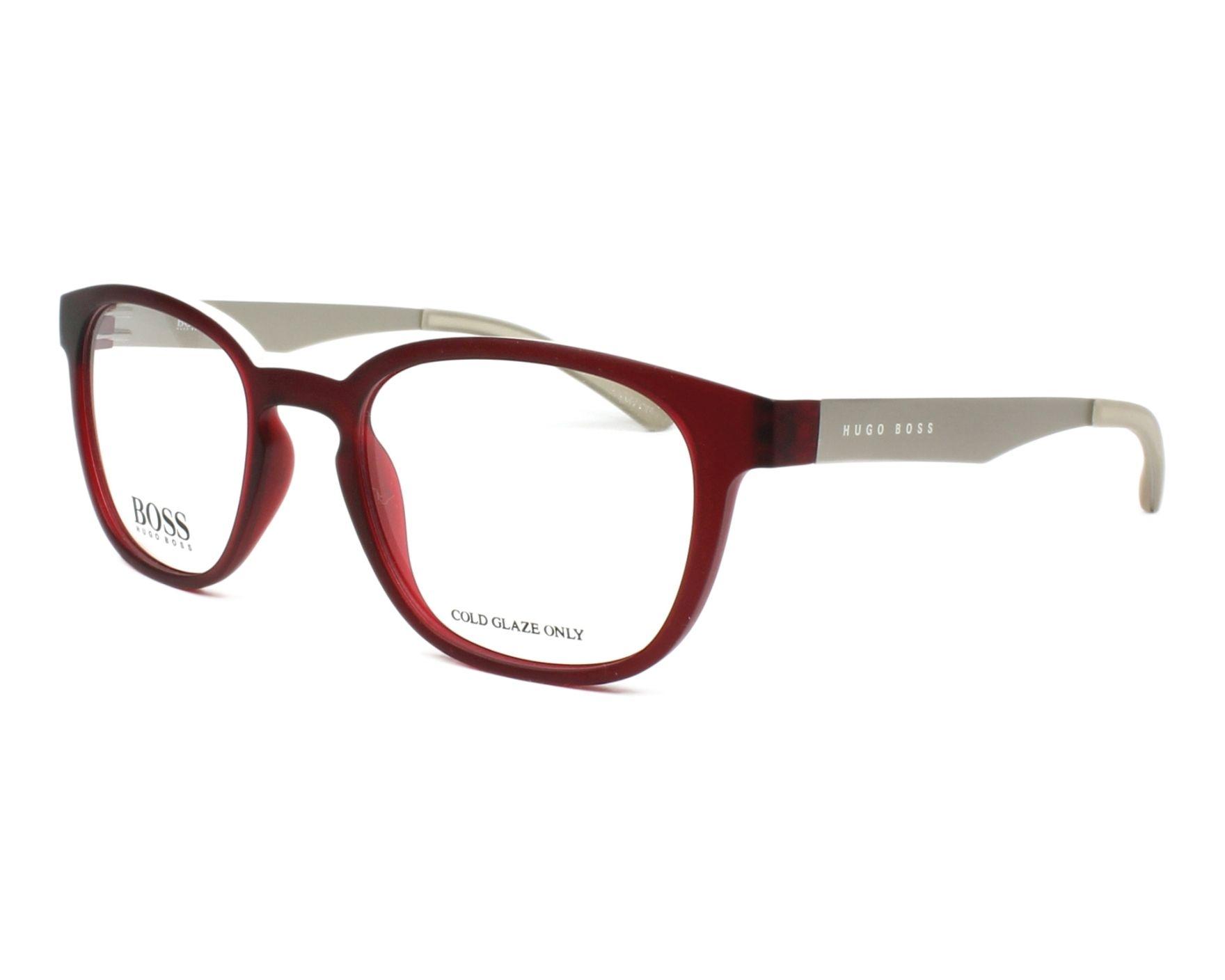 48946f73898 eyeglasses Hugo Boss BOSS-0871 05J 50-20 Bordeaux Silver profile view