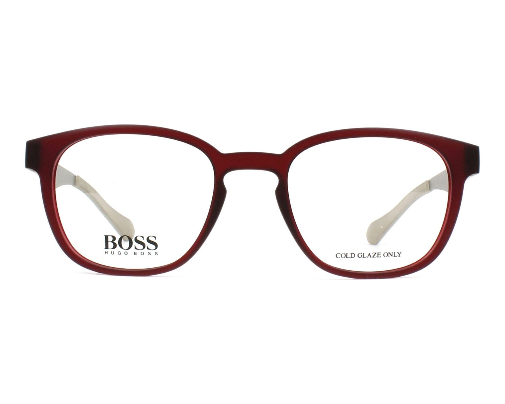 13fe635cee0 eyeglasses Hugo Boss BOSS-0871 05J 50-20 Bordeaux Silver front view