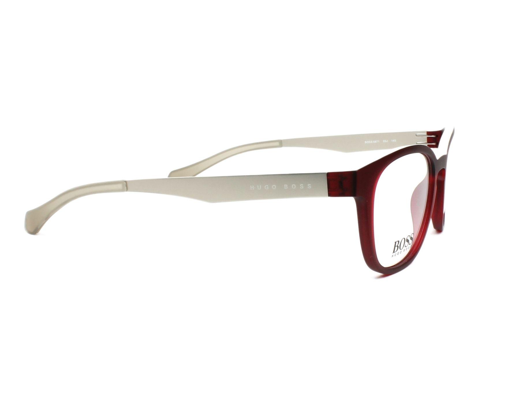 e9e39b8bfe2 eyeglasses Hugo Boss BOSS-0871 05J 50-20 Bordeaux Silver side view