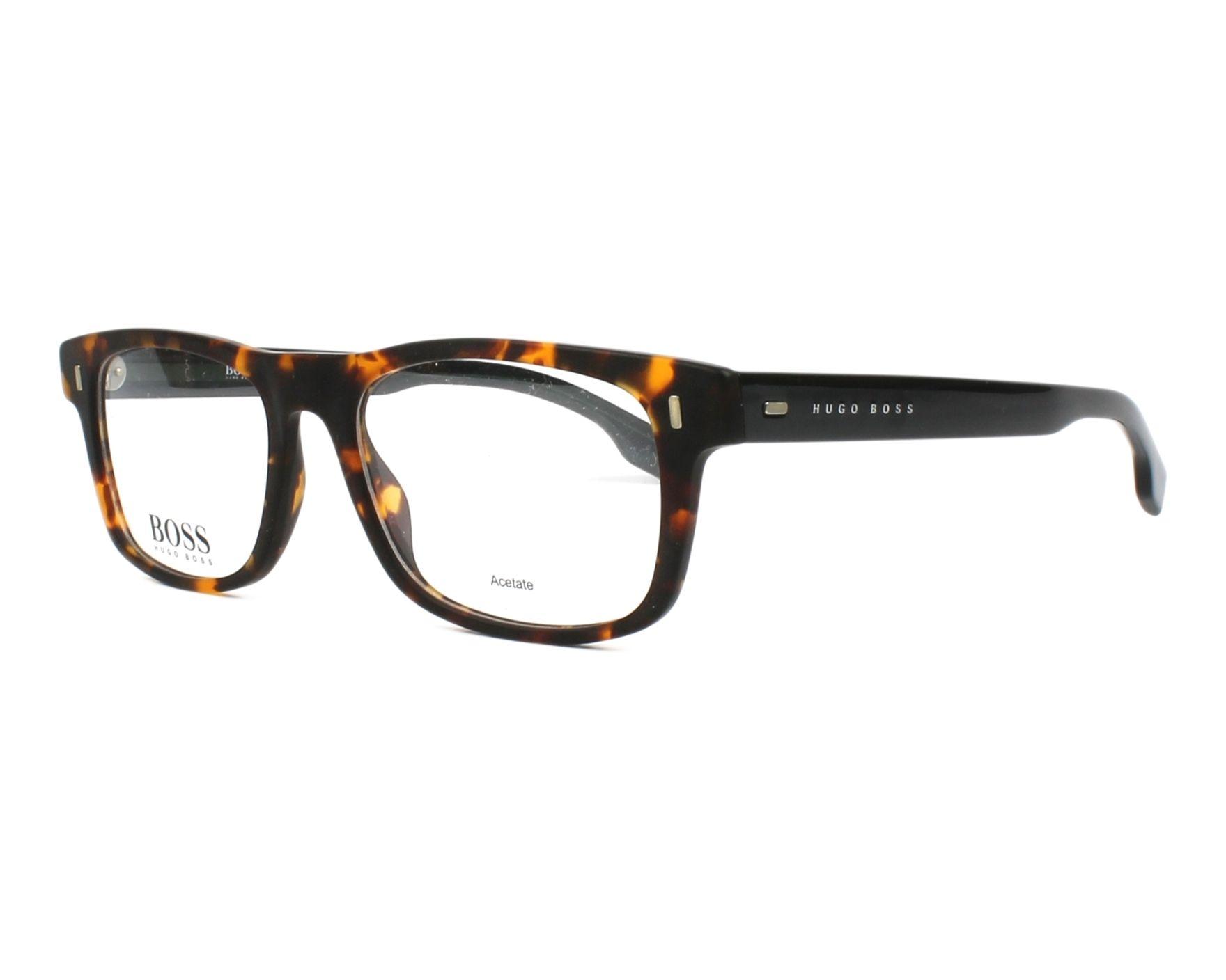 0daff5c620ca eyeglasses Hugo Boss BOSS-0928 N9P 50-17 Havana Blue profile view