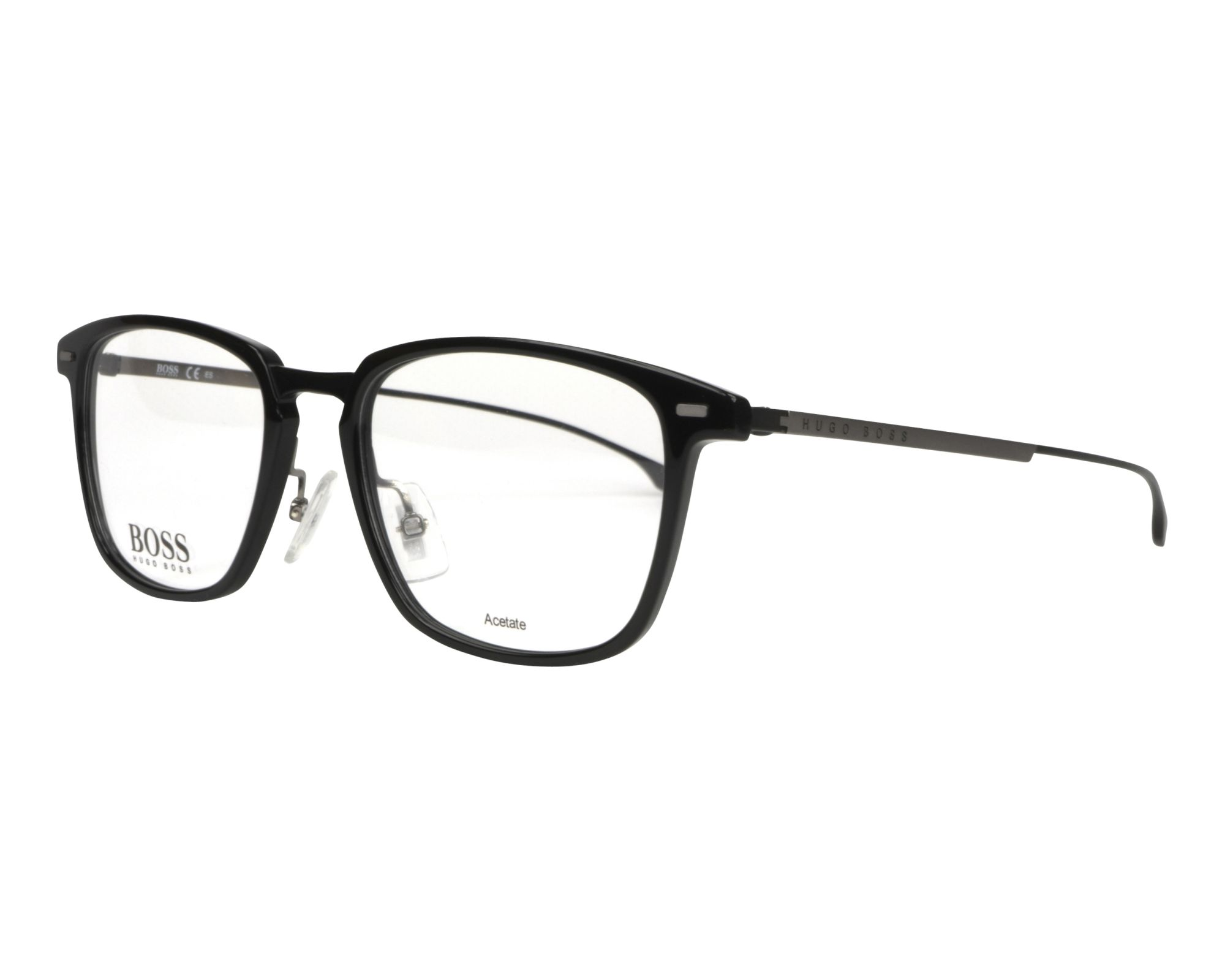 7707fc36a3e eyeglasses Hugo Boss BOSS-0975 807 51-18 Black Gun profile view