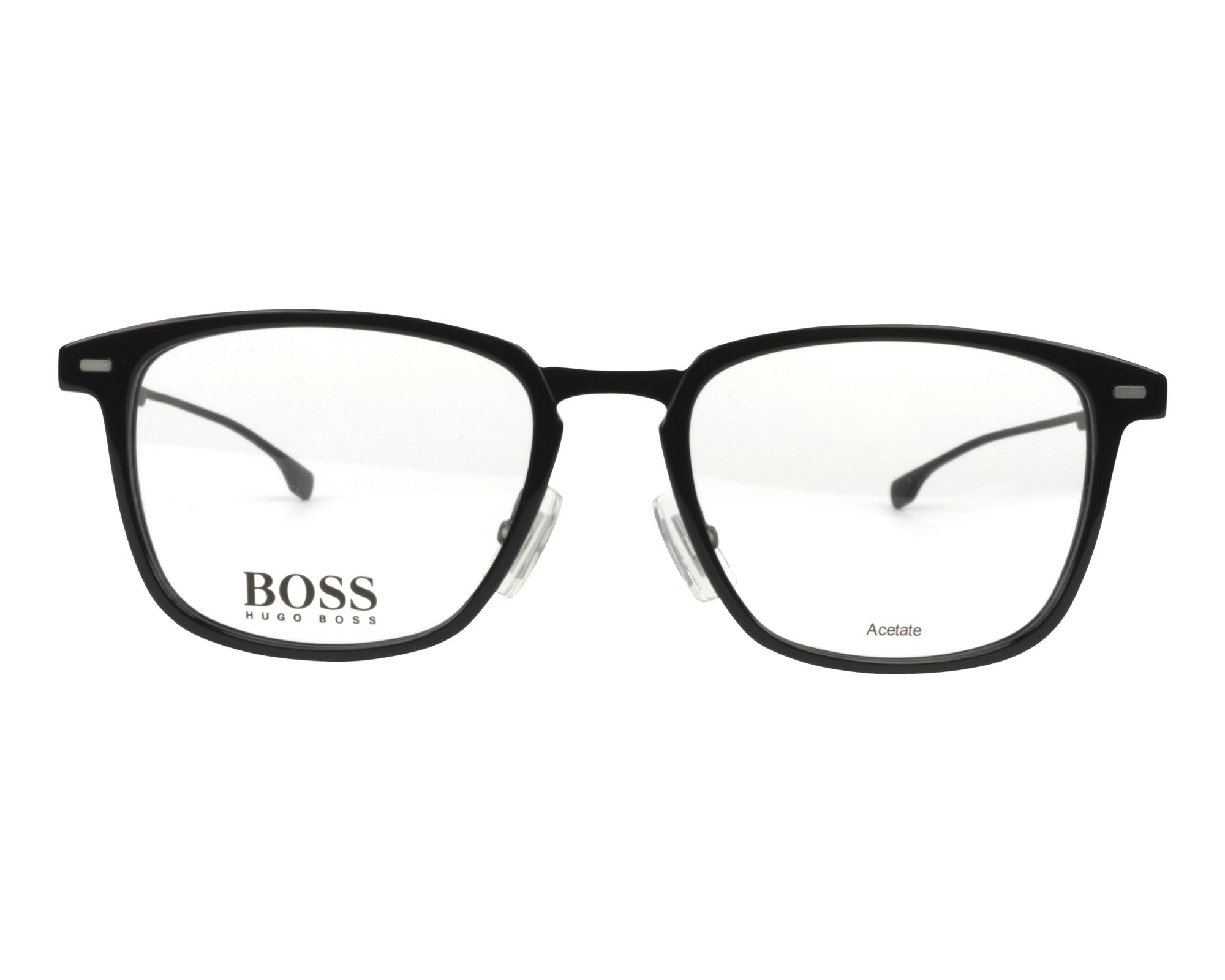 7845d2a982c eyeglasses Hugo Boss BOSS-0975 807 51-18 Black Gun front view