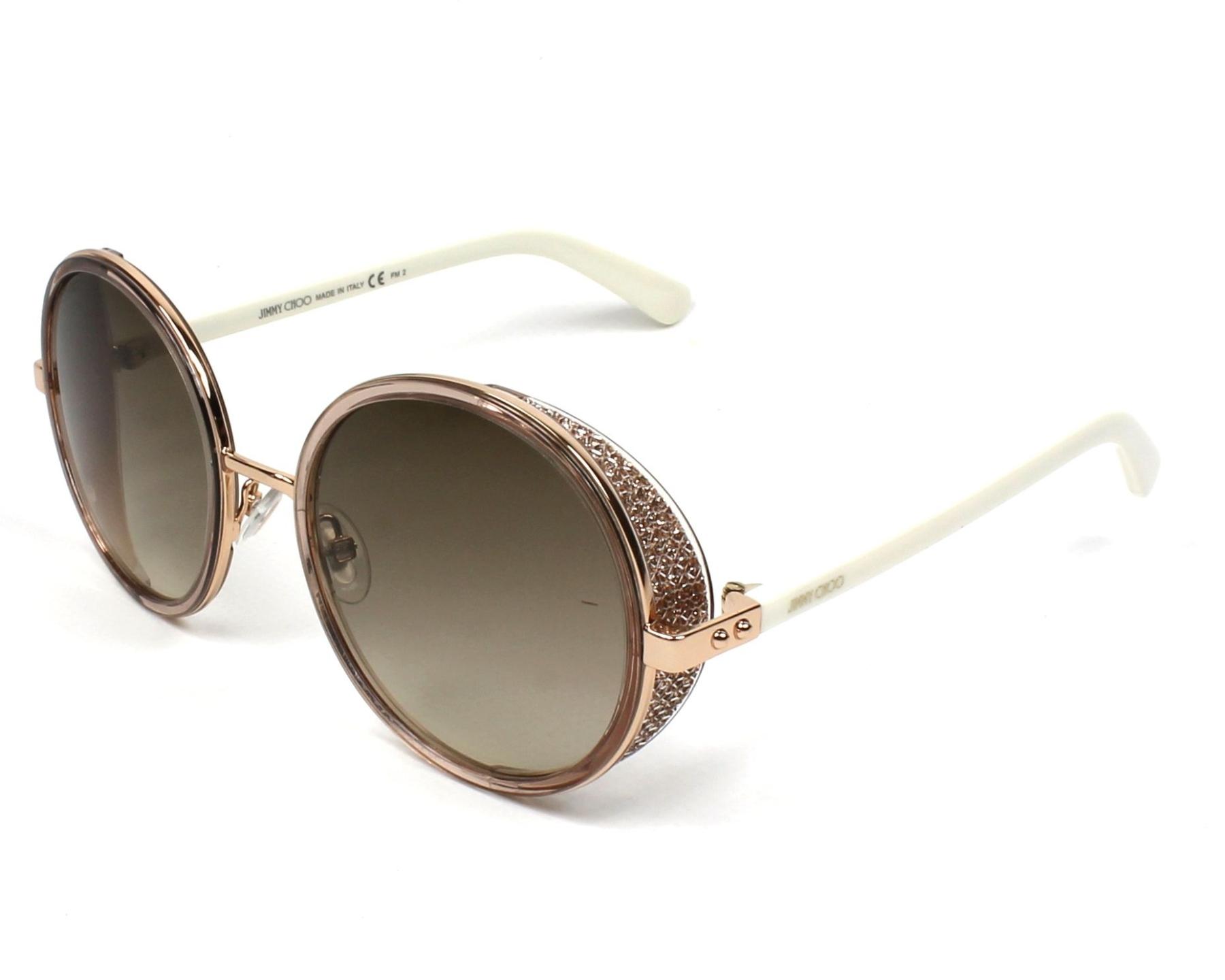 262f18607fe thumbnail Sunglasses Jimmy Choo ANDIE-N-S 1KH CC - Beige Silver profile view