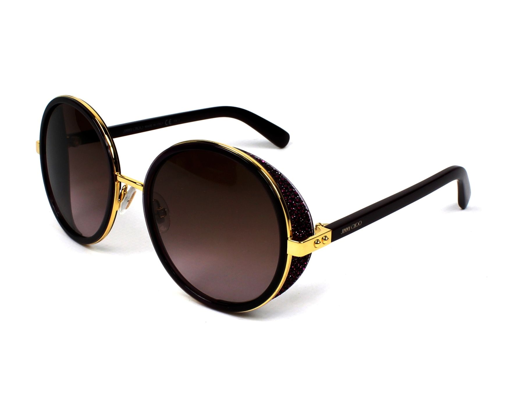 02ec64d1ece2 Sunglasses Jimmy Choo ANDIE-N-S 1KJ/V6 54-21 Purple Gold profile view