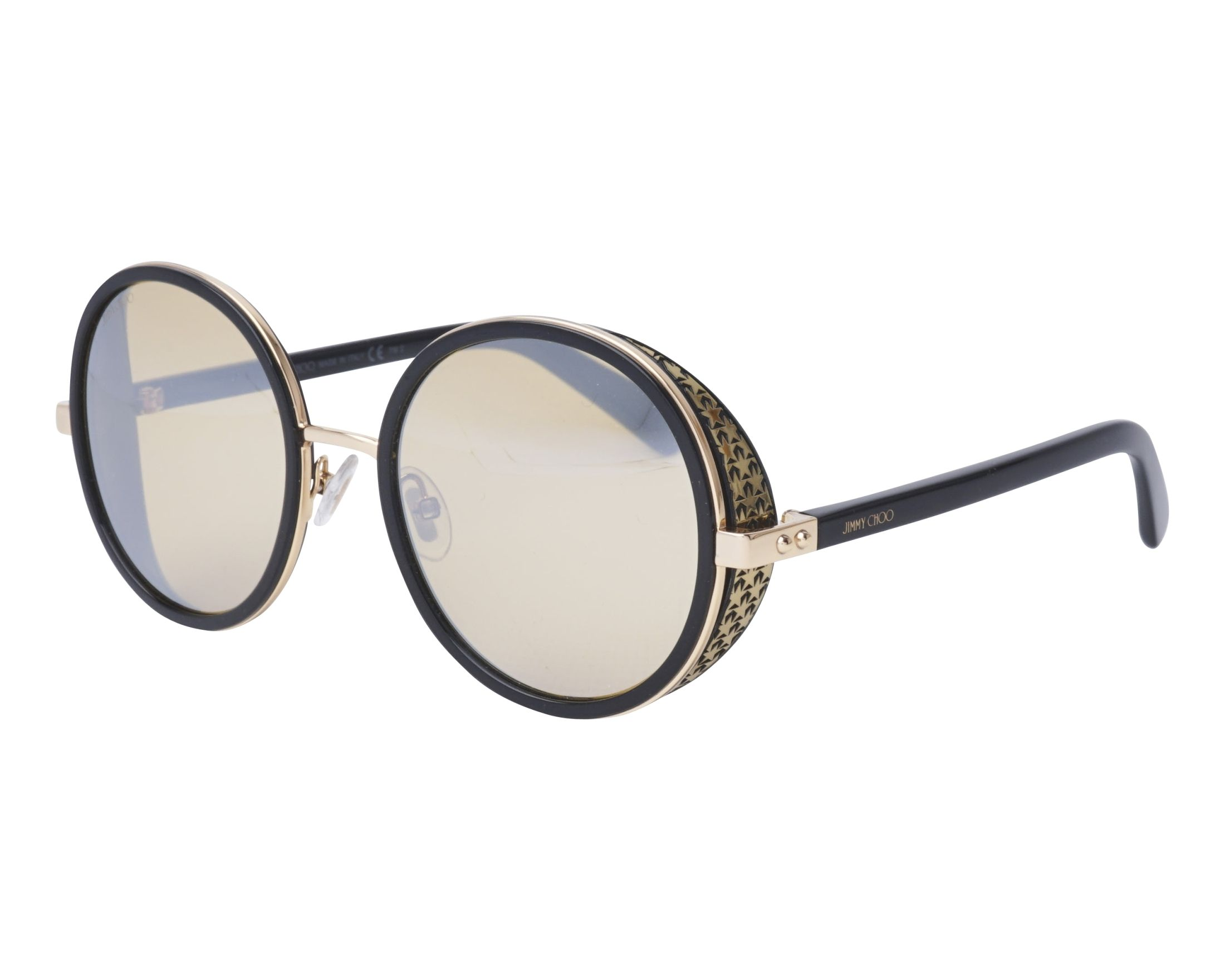 ee492f3163af Sunglasses Jimmy Choo ANDIE-N-S 2M2/T4 54-21 Black Gold profile view