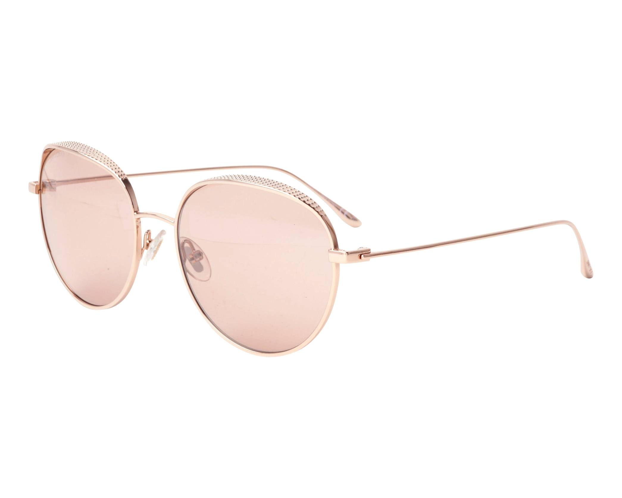 266739e78249 Sunglasses Jimmy Choo ELLO-S BKU2S 56-18 Rose gold profile view