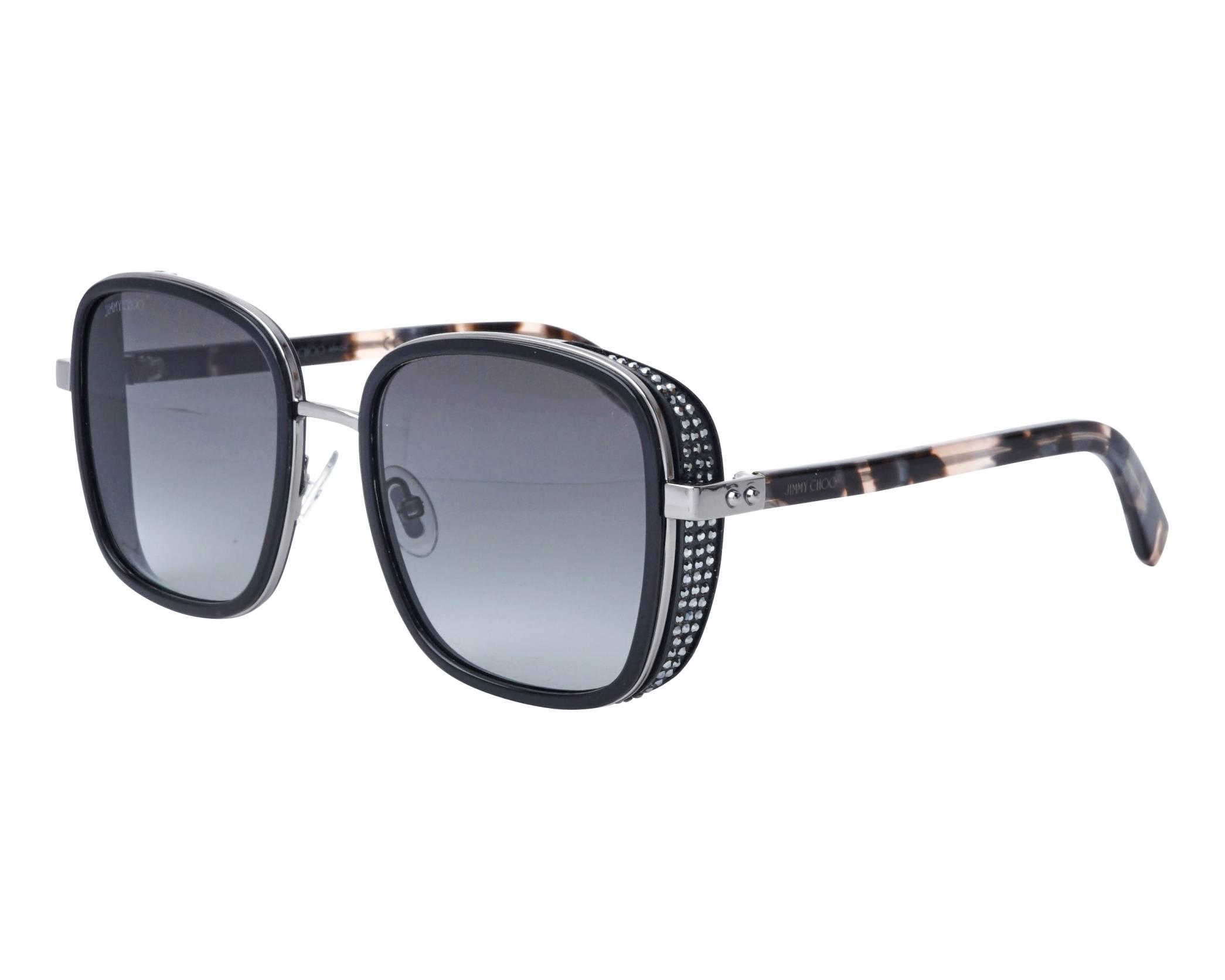 93010eb51f83 Sunglasses Jimmy Choo ELVA-S 80790 54-20 Black Gun profile view