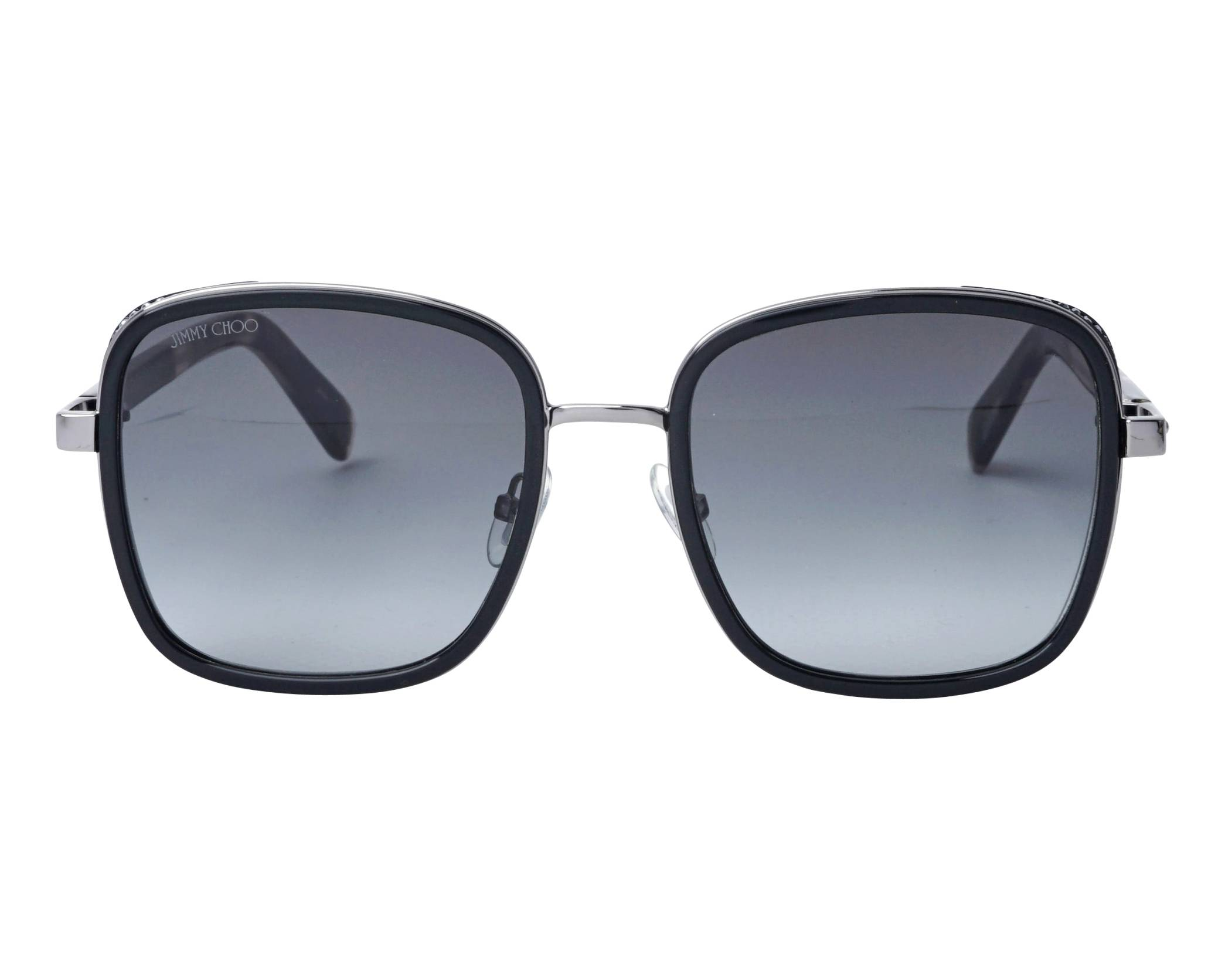 9b139812b83d Sunglasses Jimmy Choo ELVA-S 80790 54-20 Black Gun front view
