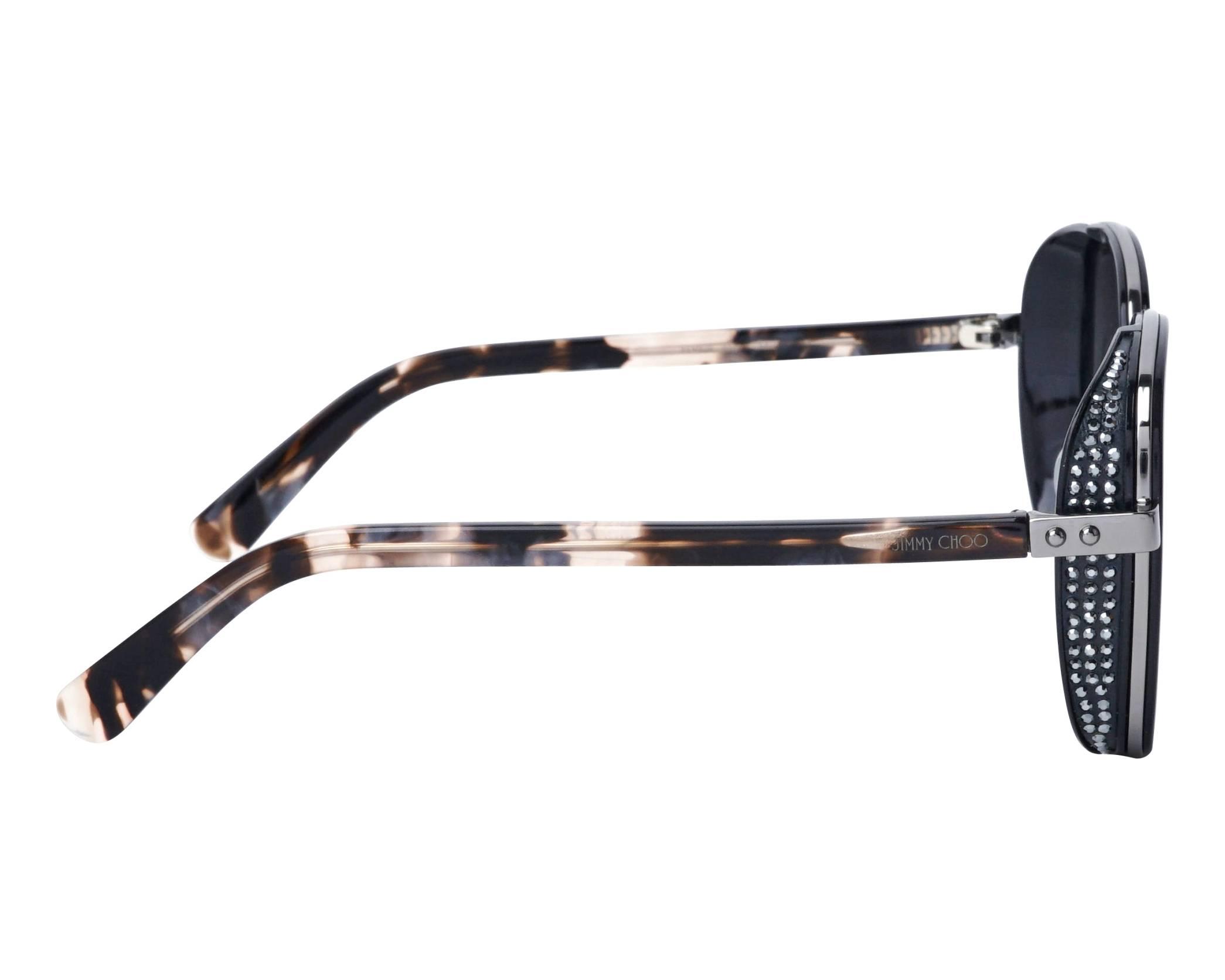 1d66d9f6e563 Sunglasses Jimmy Choo ELVA-S 80790 54-20 Black Gun side view