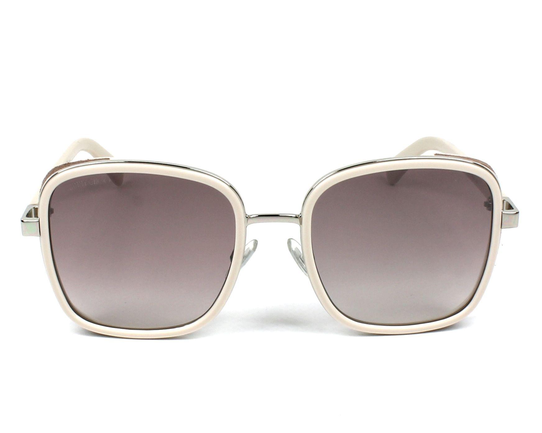 3622a38d428b thumbnail Sunglasses Jimmy Choo ELVA-S 8U0 NQ - Ochre Silver front view