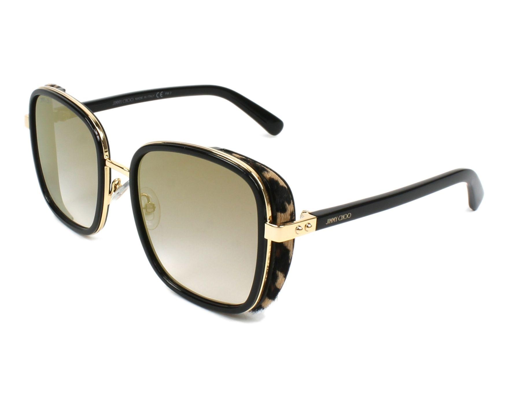 aa29fb51a9bc thumbnail Sunglasses Jimmy Choo ELVA-S FP3 FQ - Black Leo profile view