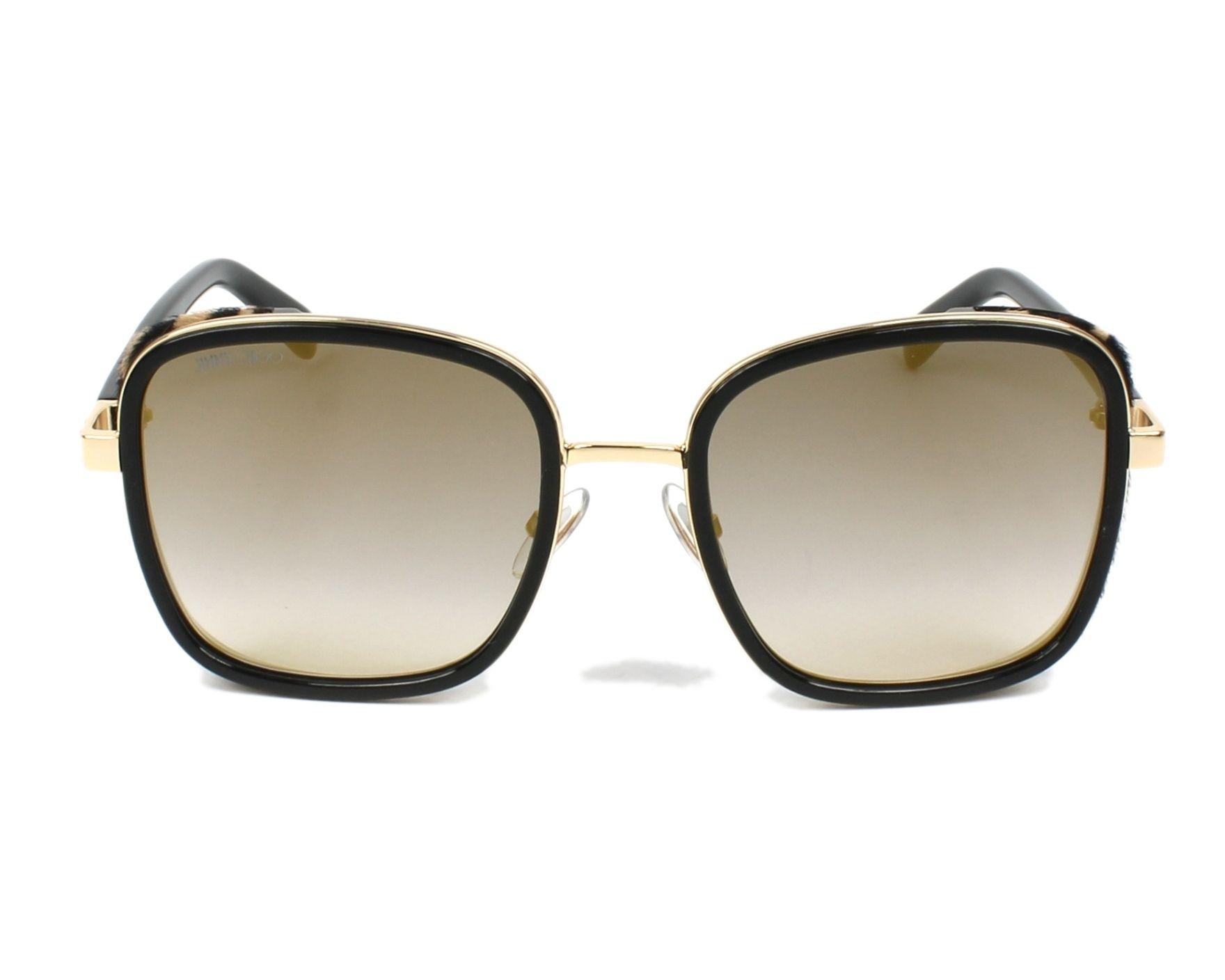 cdc3d645c6b1 thumbnail Sunglasses Jimmy Choo ELVA-S FP3 FQ - Black Leo front view
