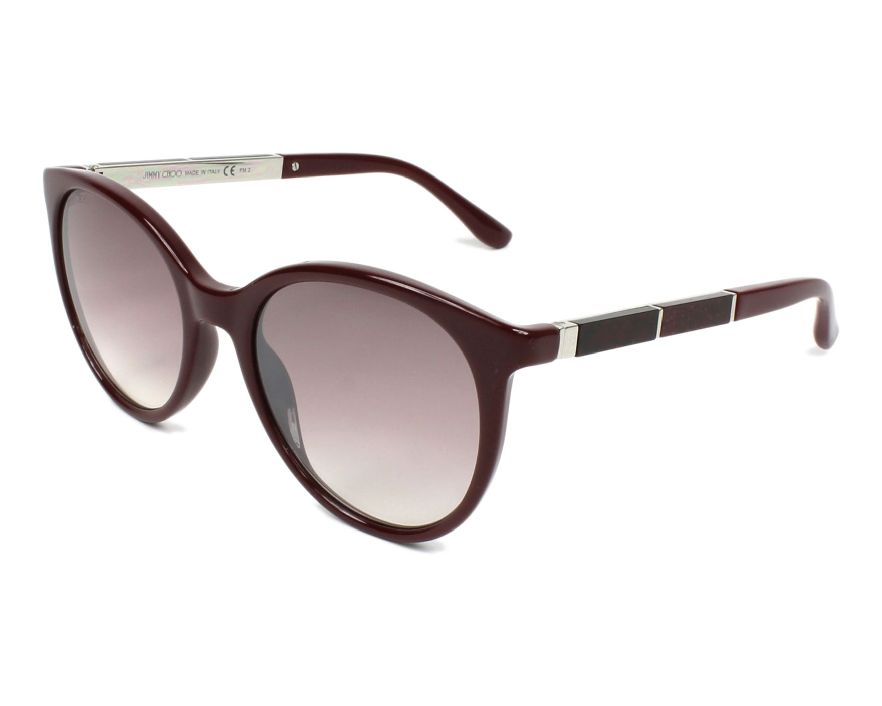 4c17dffeee68 Sunglasses Jimmy Choo ERIE-S LHF NQ 54-20 Bordeaux Red profile view