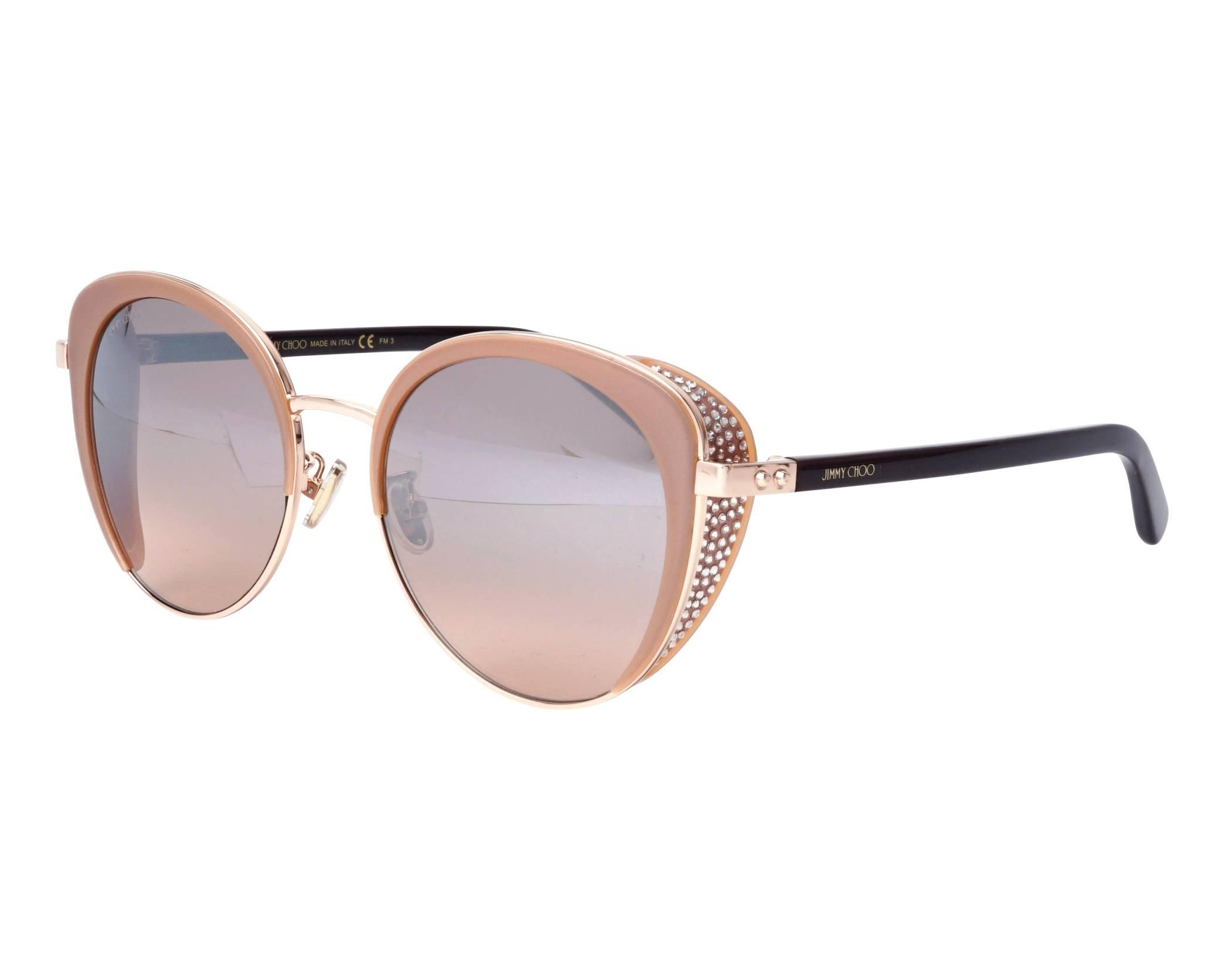 Jimmy Choo GABBY/F/S Asian Fit 2M2 Sunglasses Black Gold