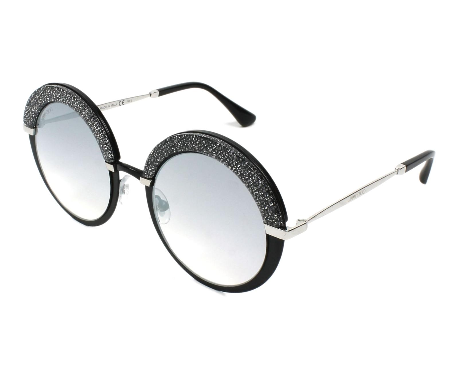 5958fcb3cf98 Sunglasses Jimmy Choo GOTHA-S IXA FU 50-22 Black profile view