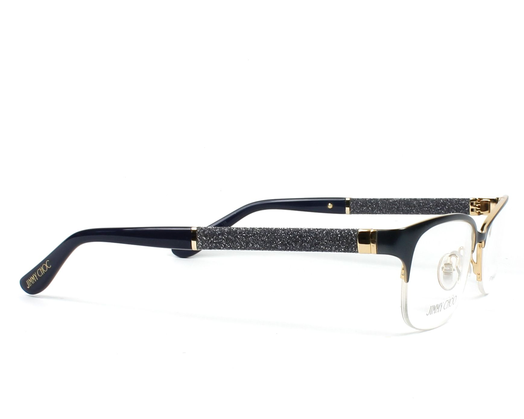 330ab952daad eyeglasses Jimmy Choo JC-106 F79 - Blue Grey side view